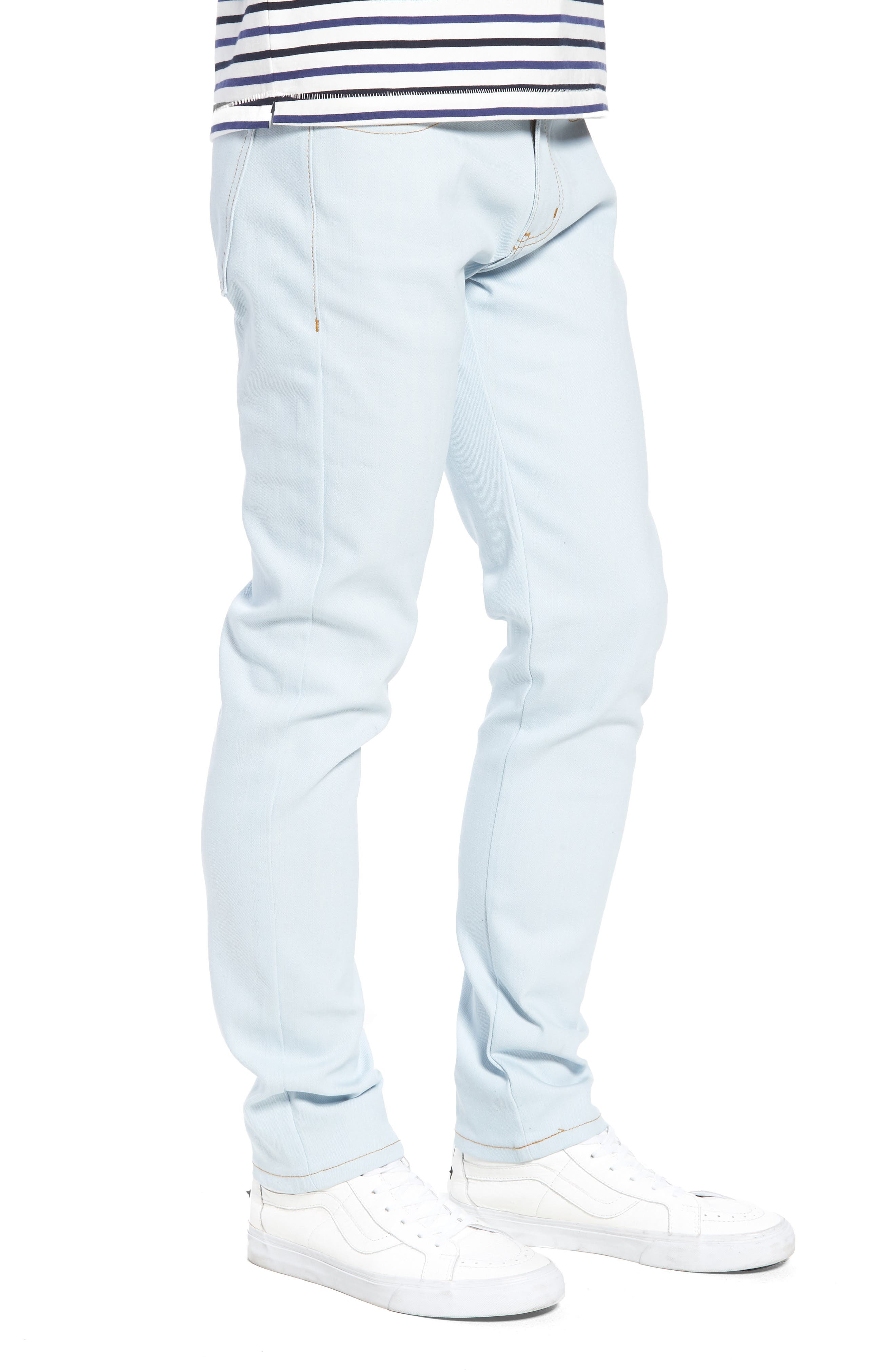 Naked & Famous Super Skinny Guy Skinny Fit Jeans,                             Alternate thumbnail 3, color,                             Powder Blue