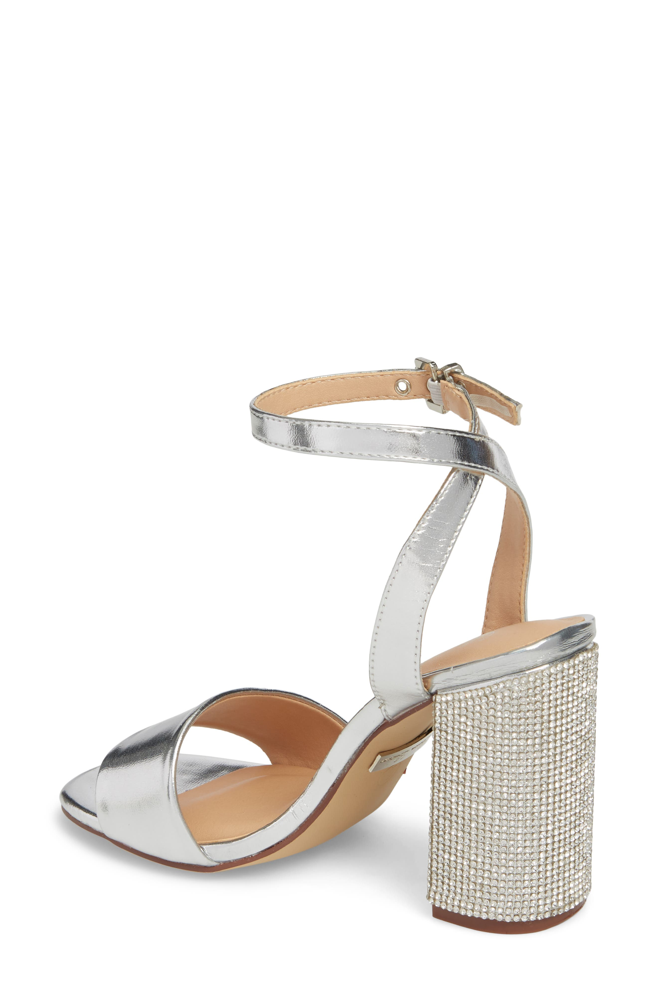 Julia Sandal,                             Alternate thumbnail 2, color,                             Silver Faux Leather