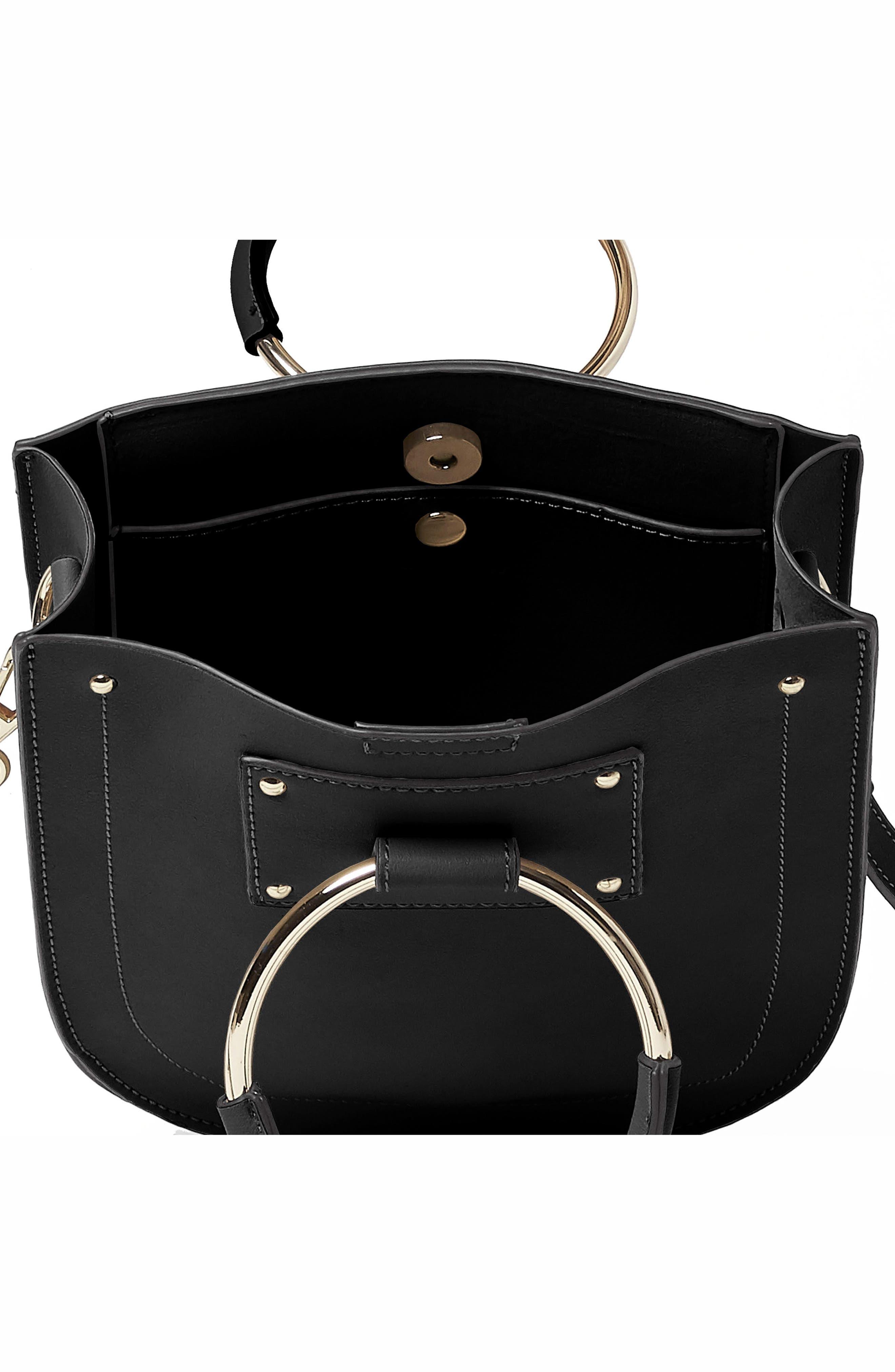 Scandi Vegan Leather Crossbody Bag,                             Alternate thumbnail 3, color,                             Black