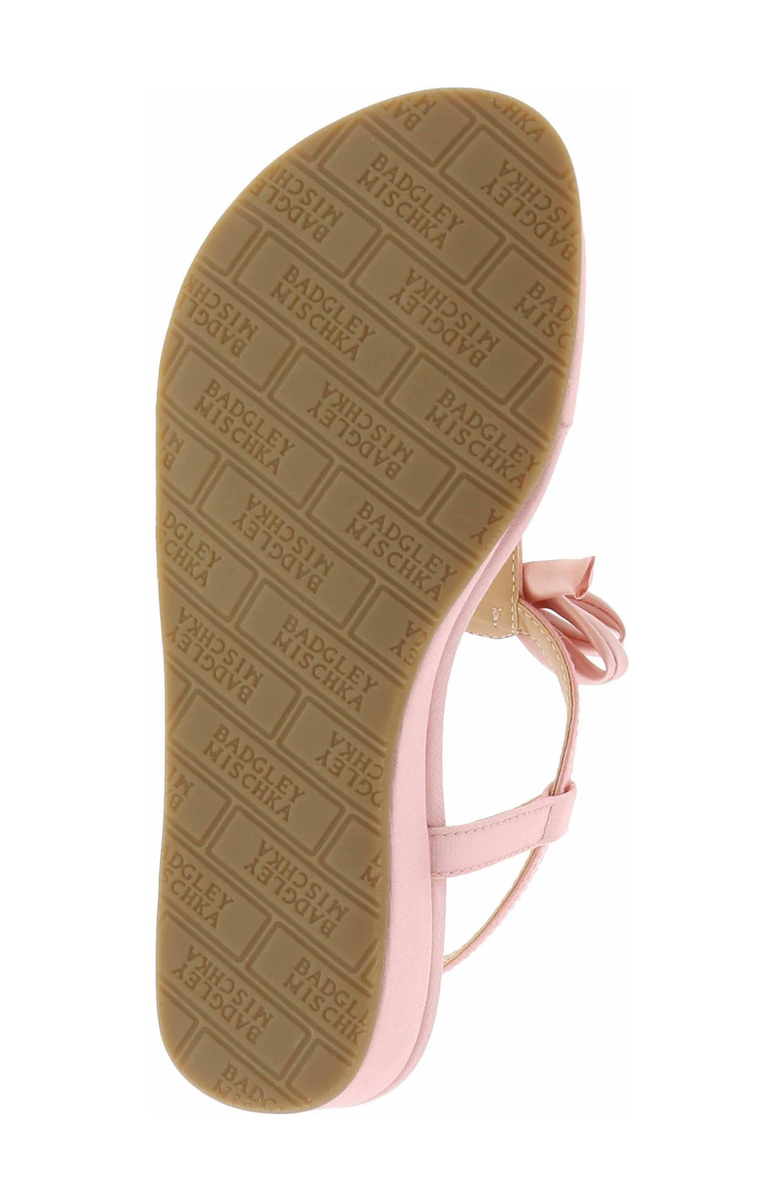 Talia Embellished Bow Sandal,                             Alternate thumbnail 6, color,                             Light Pink