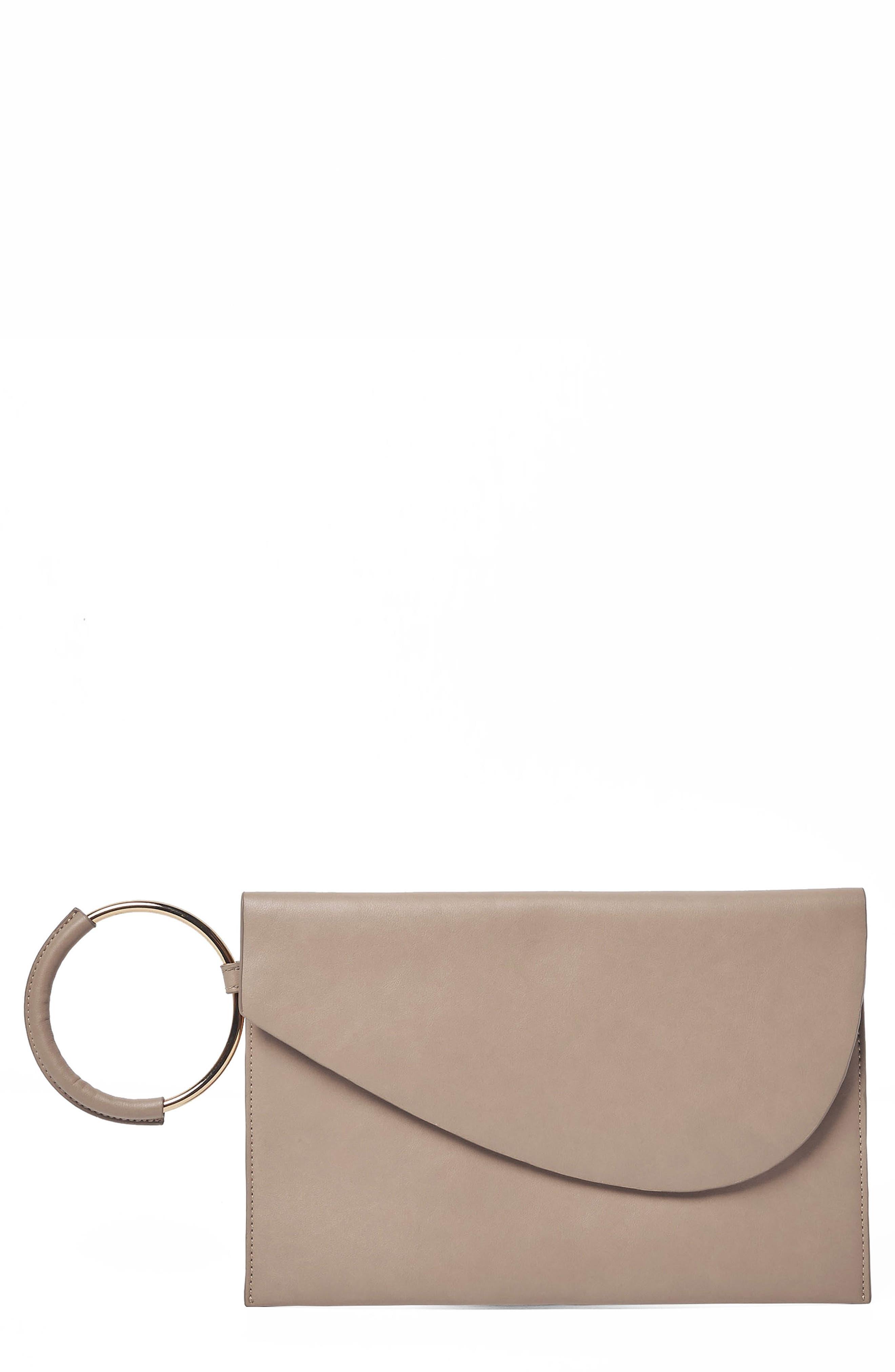 Paris Nights Vegan Leather Clutch,                         Main,                         color, Mid Grey
