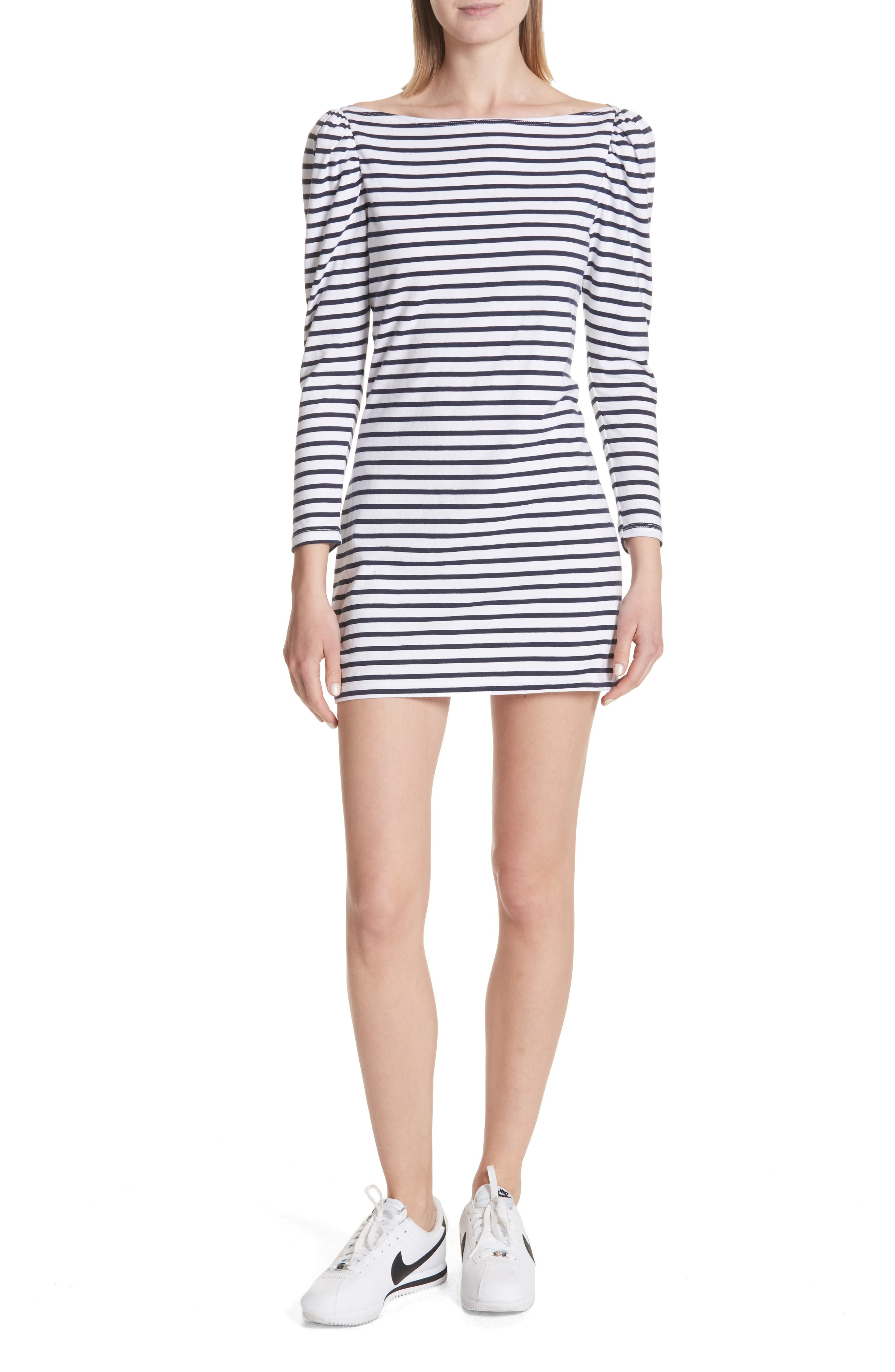 Stevens Stripe Dress,                             Main thumbnail 1, color,                             Midnight