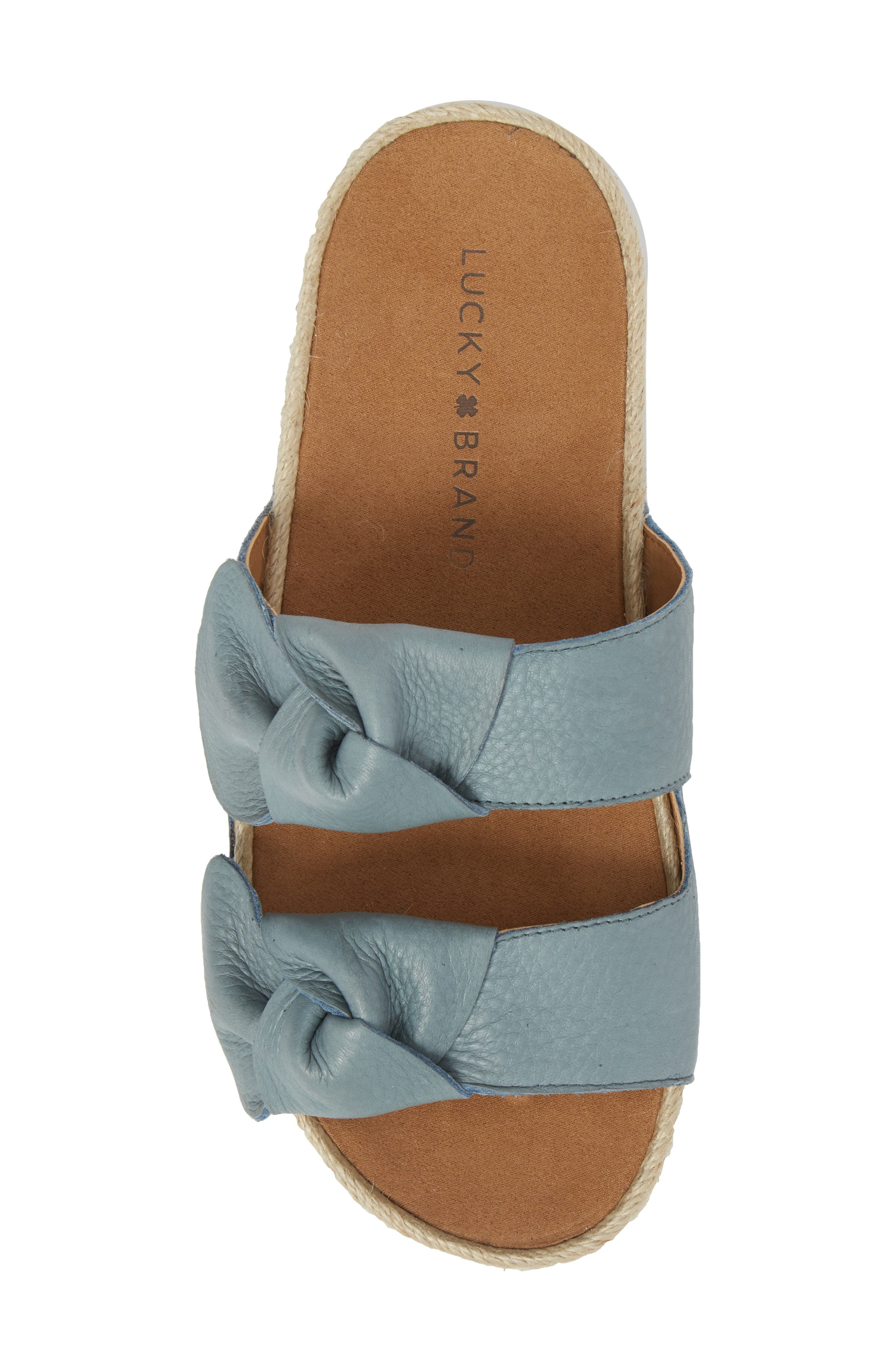 Izbremma Platform Espadrille Sandal,                             Alternate thumbnail 5, color,                             Infinity Leather