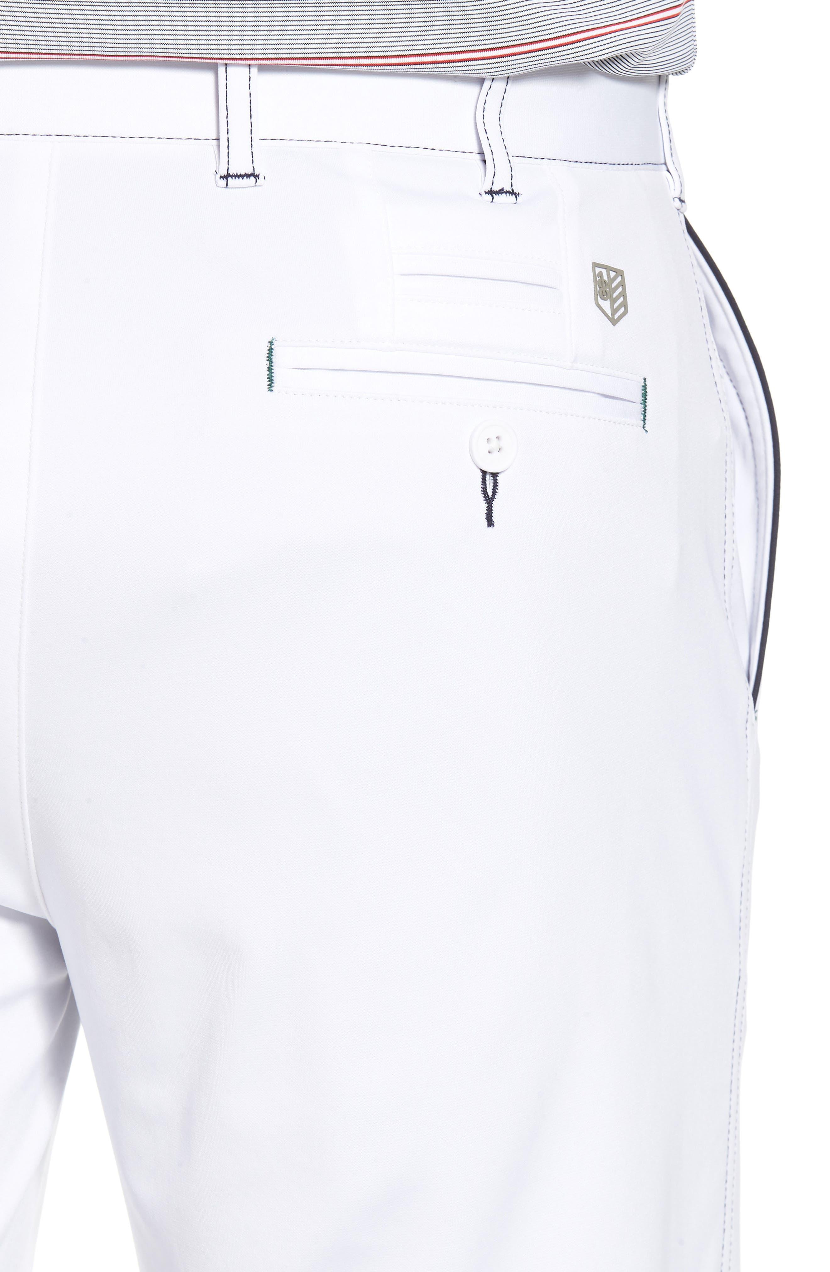 Trim Fit Tech Chino Shorts,                             Alternate thumbnail 4, color,                             White
