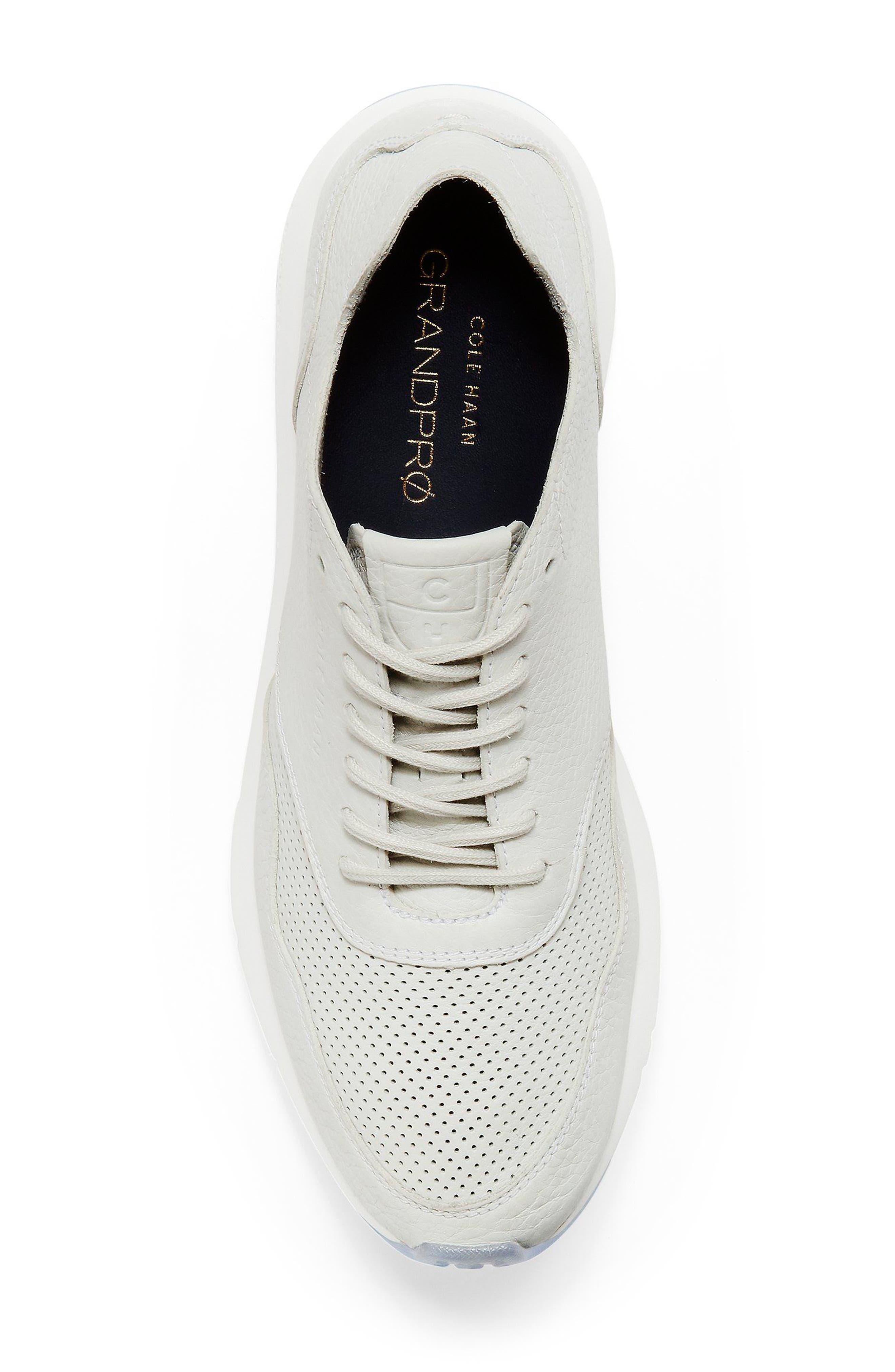 GrandPrø Deconstructed Running Sneaker,                             Alternate thumbnail 5, color,                             White Leather