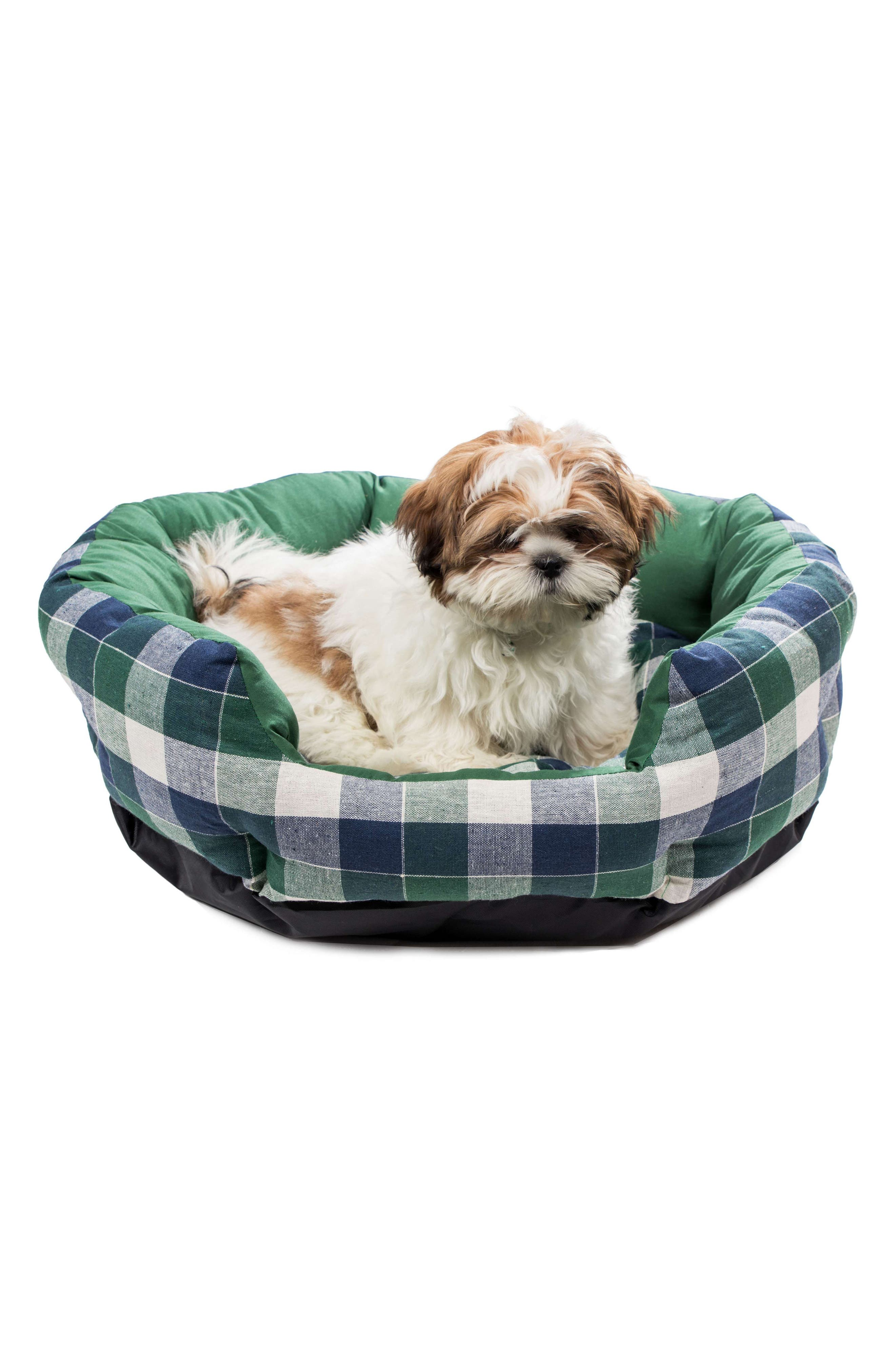 Hasley Round Pet Bed,                             Alternate thumbnail 2, color,                             Green