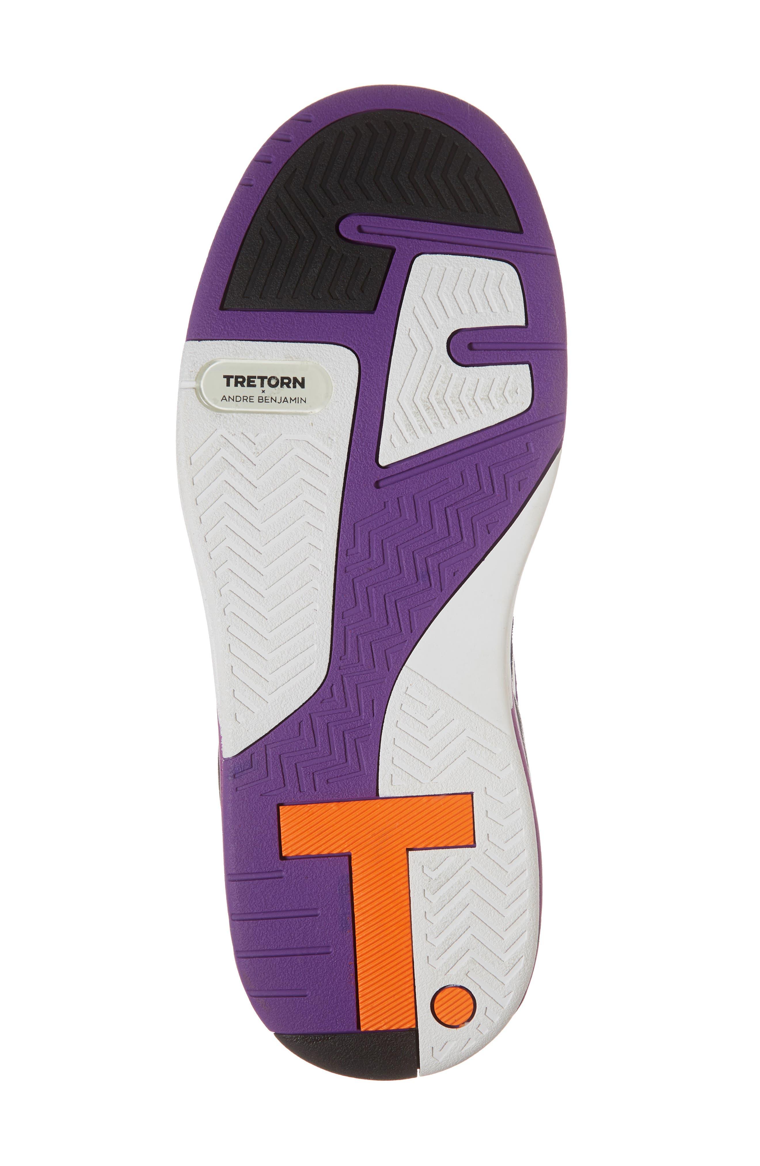 Andre 3000 Bostad 2 High Top Sneaker,                             Alternate thumbnail 6, color,                             Black/ White/ Purple