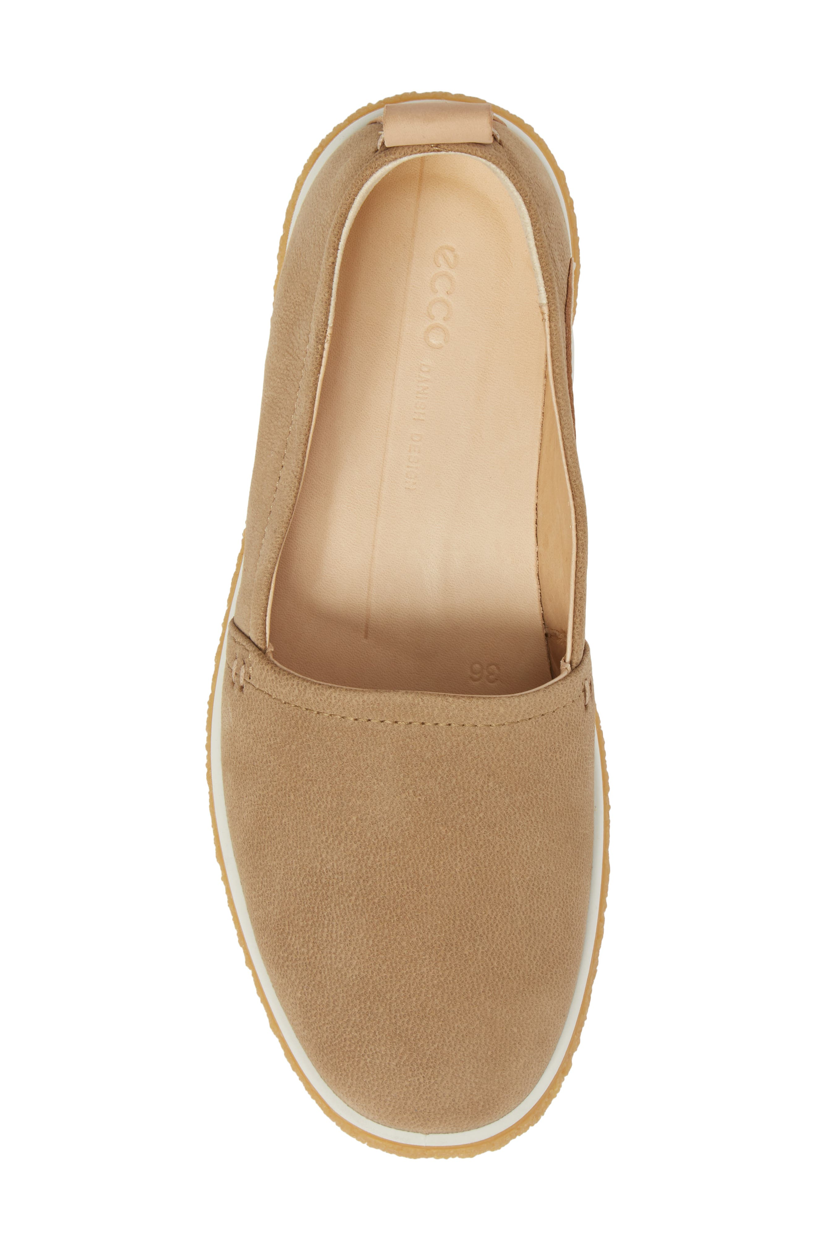 Crepetray Slip-On,                             Alternate thumbnail 5, color,                             Brown Leather