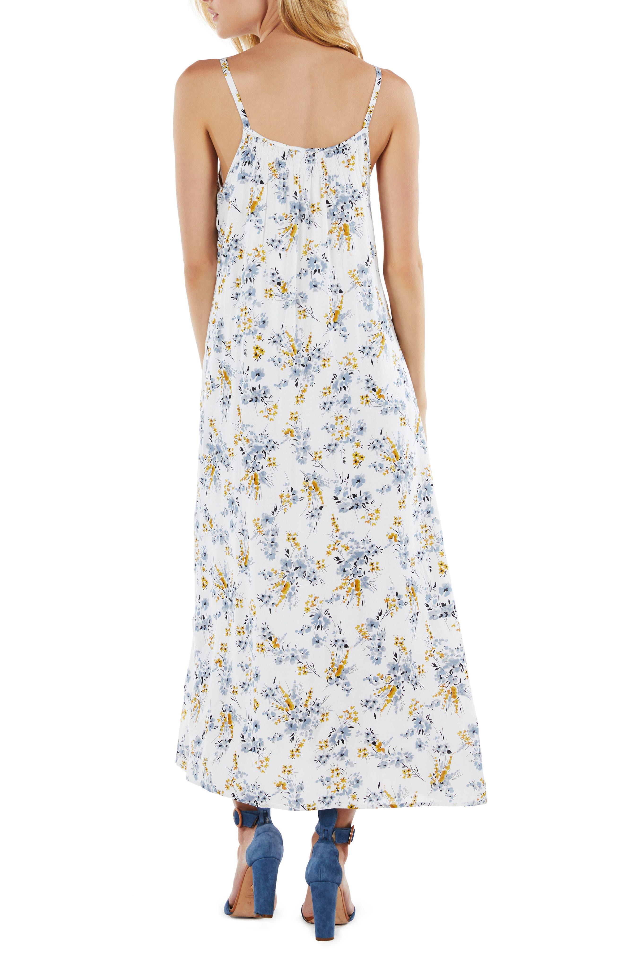Floral Maxi Dress,                             Alternate thumbnail 2, color,                             Dandelion
