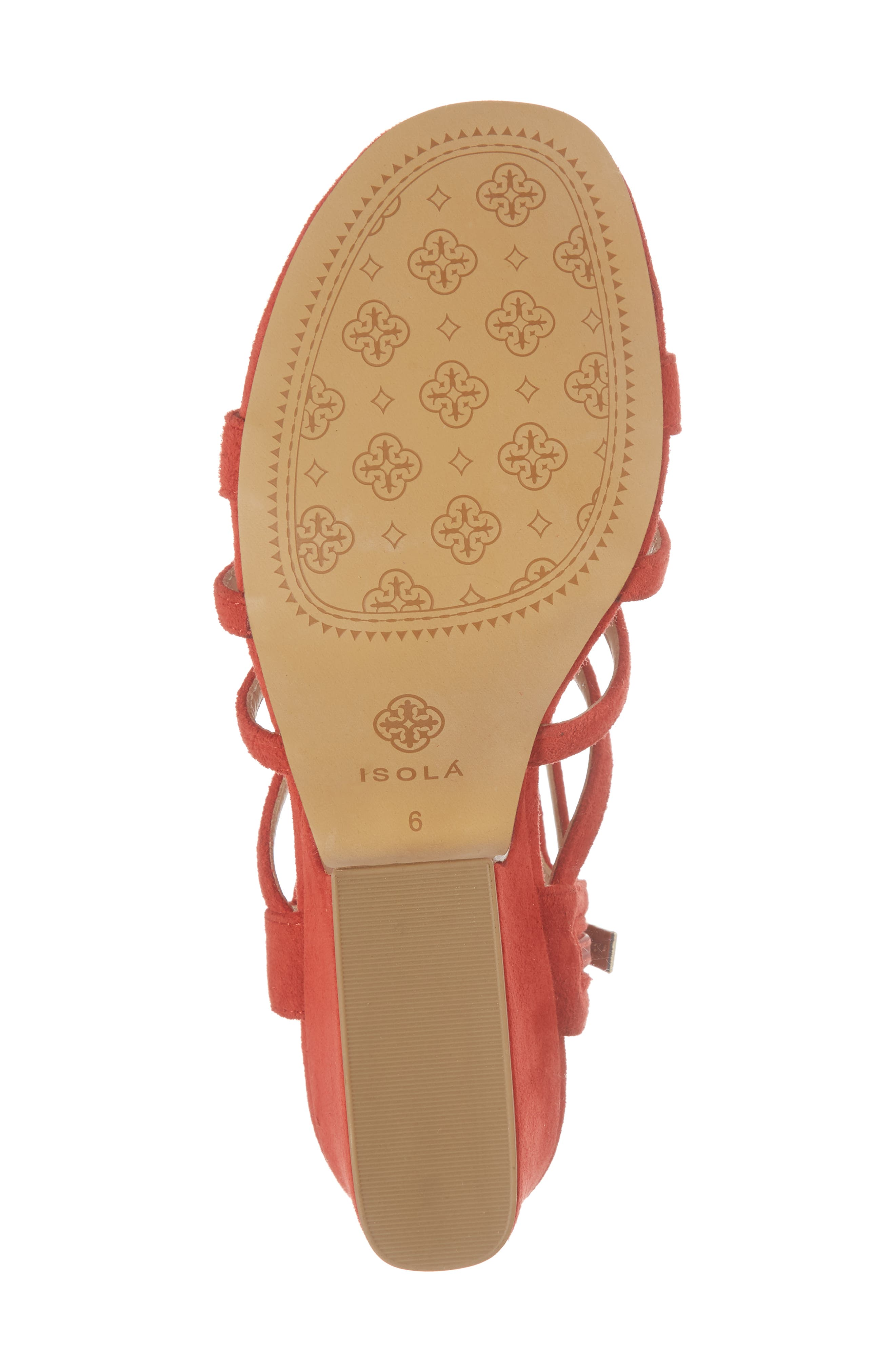 Lina Sandal,                             Alternate thumbnail 6, color,                             Lipstick Red Suede