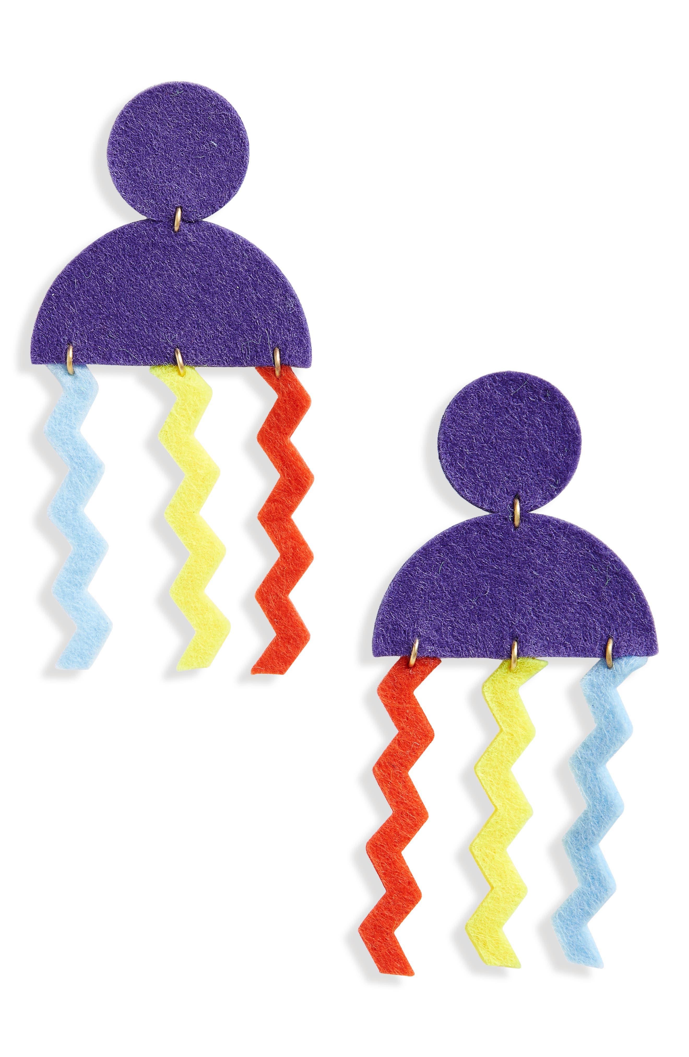 Memphis Jelly Earrings,                         Main,                         color, Purple Multi