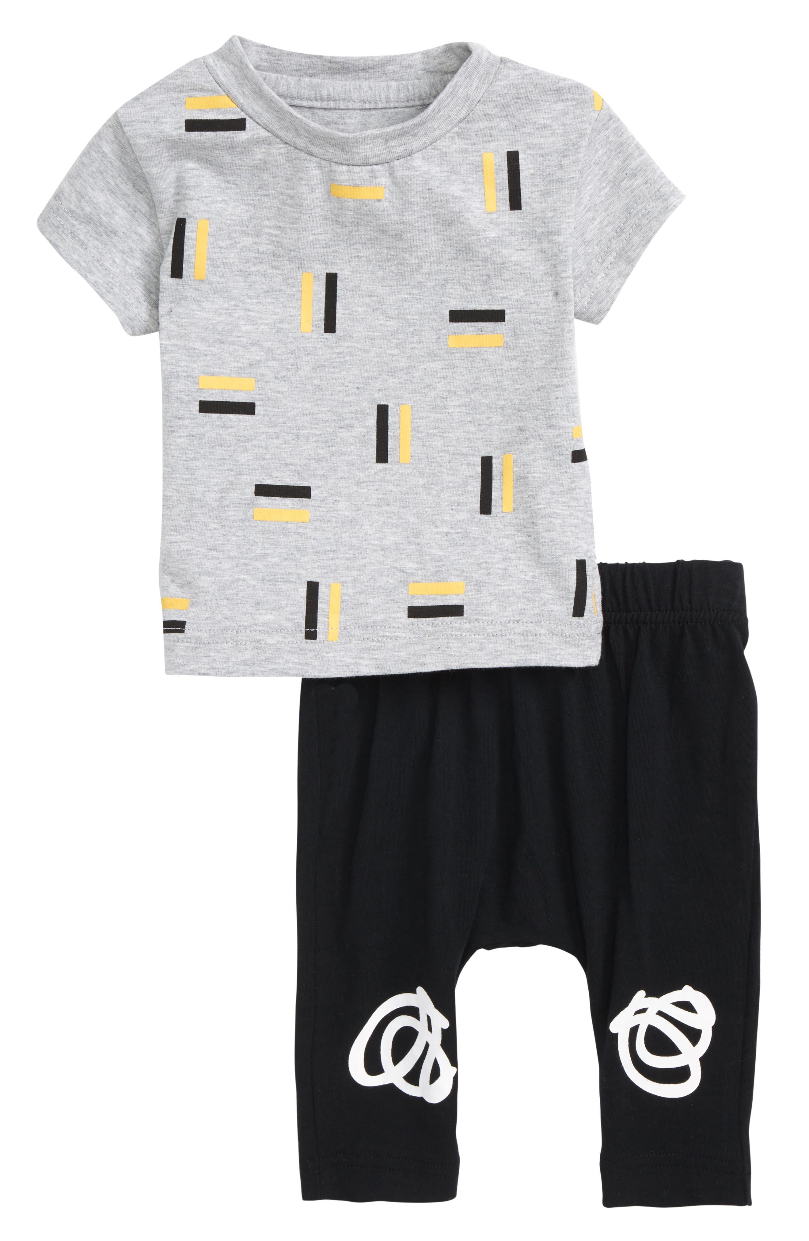 Pause Shirt & Pants Set,                             Main thumbnail 1, color,                             Grey/ Black