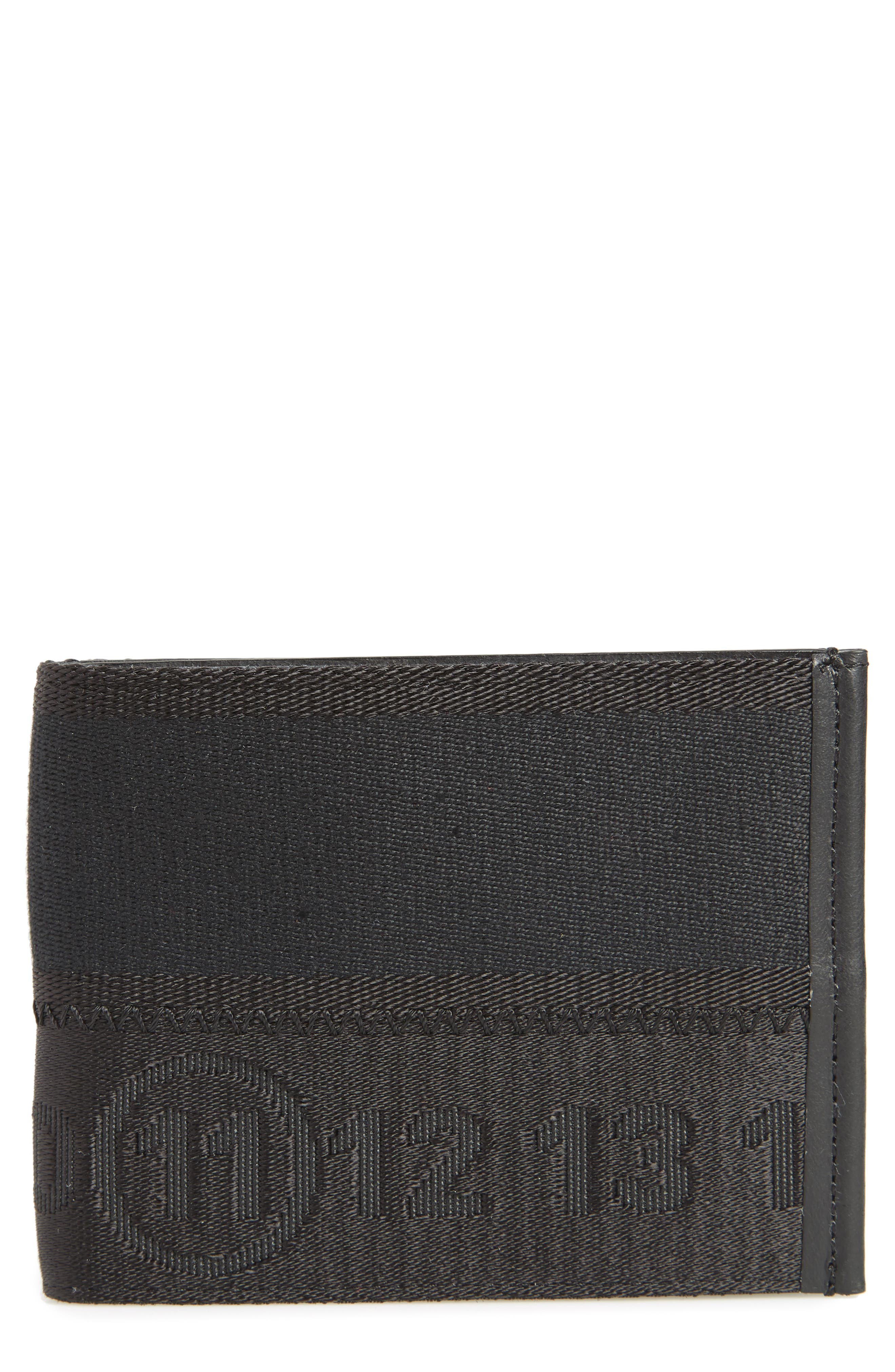 Leather Card Case,                         Main,                         color, Black