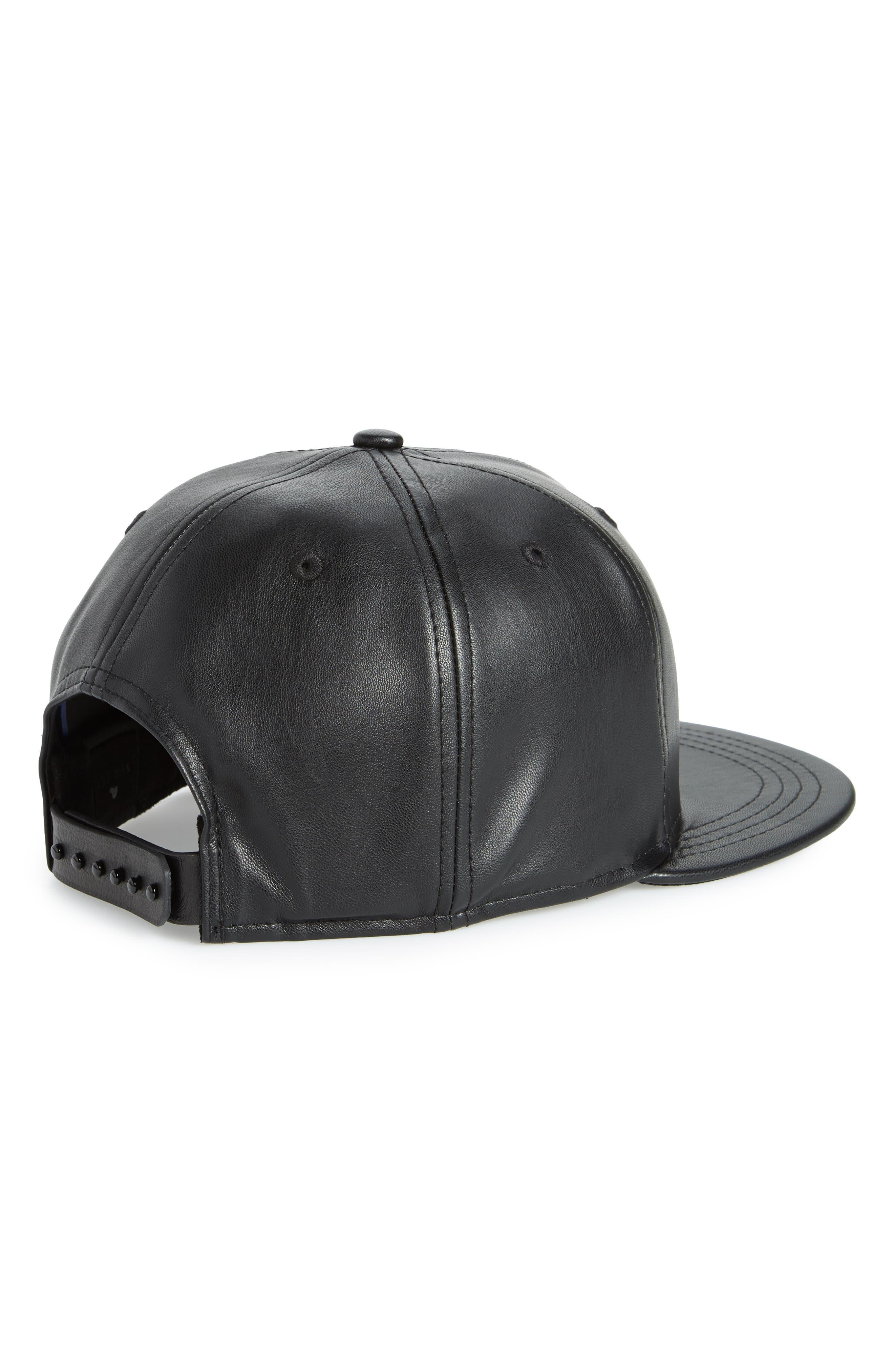 New Era NBA Glossy Faux Leather Snapback Cap,                             Alternate thumbnail 3, color,                             San Antonio Spurs