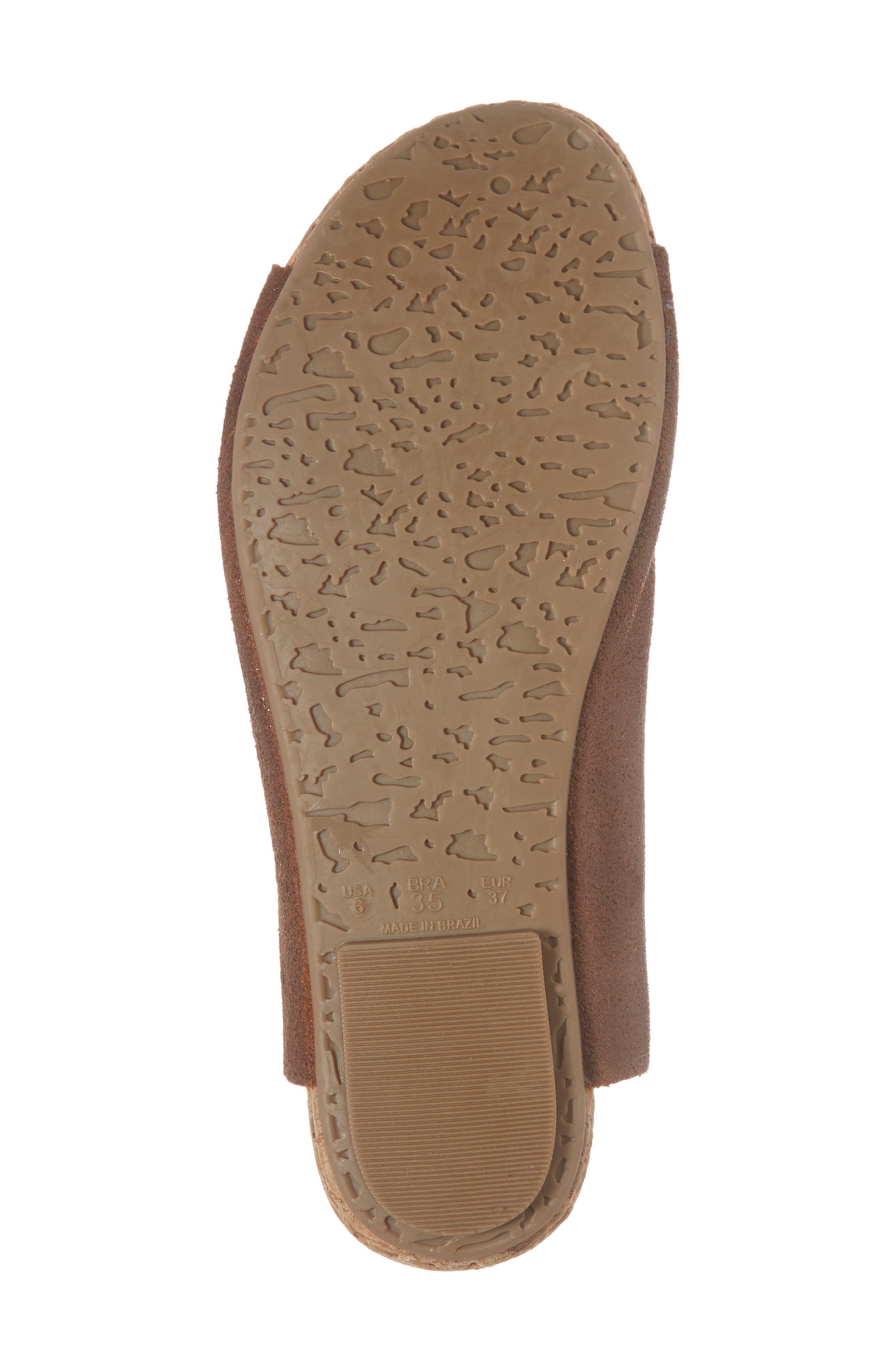 Gracey Slide Sandal,                             Alternate thumbnail 6, color,                             Rum Leather