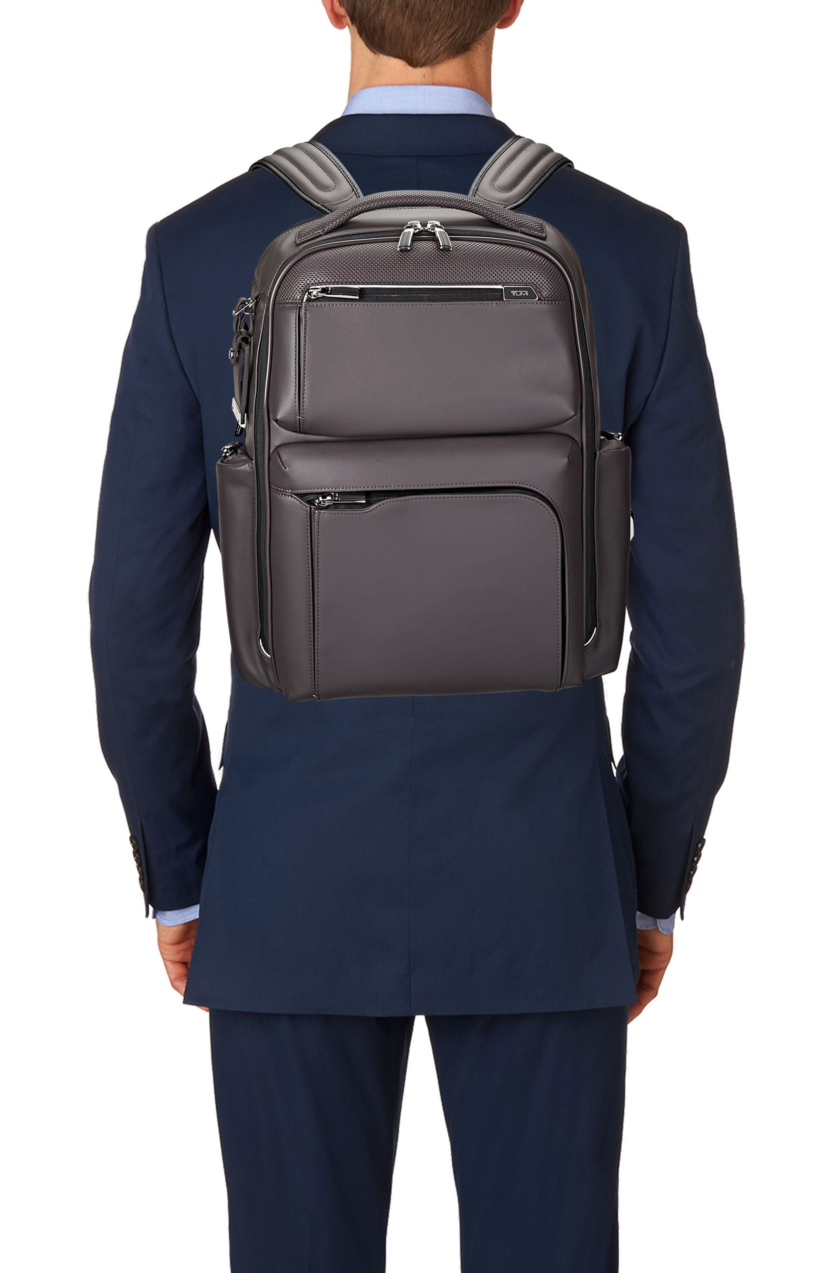 Arrivé - Bradley Leather Backpack,                             Alternate thumbnail 2, color,                             Taupe