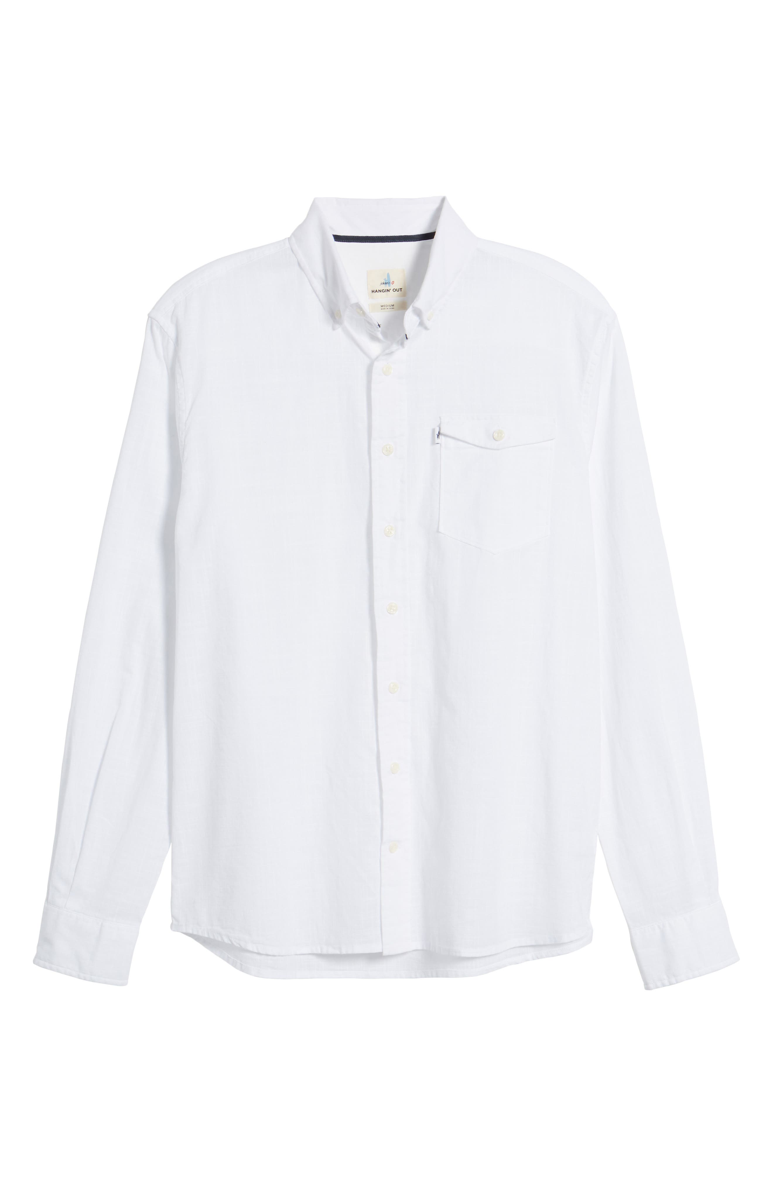 Brodie Regular Fit Sport Shirt,                             Alternate thumbnail 6, color,                             White