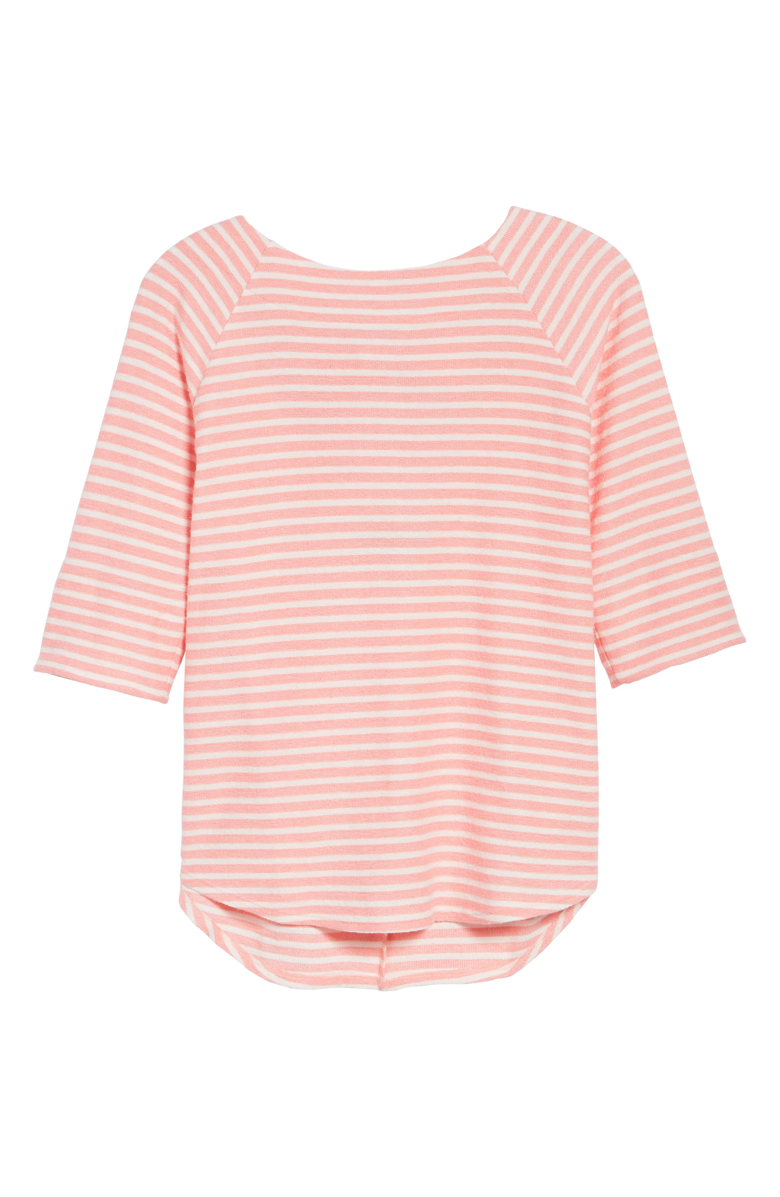 Tie Back Top,                             Alternate thumbnail 7, color,                             Coral Sugar/ White