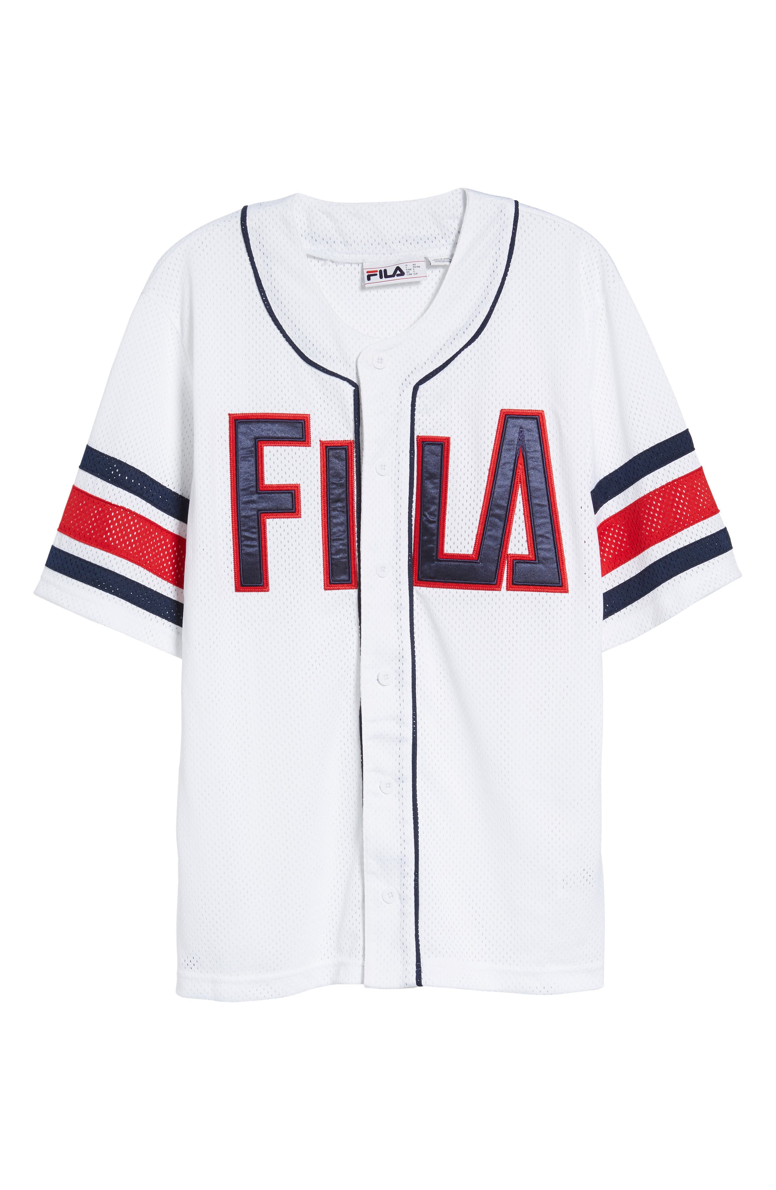 Kyler Baseball Jersey,                             Alternate thumbnail 6, color,                             White/ Peacoat/ Chinese Red