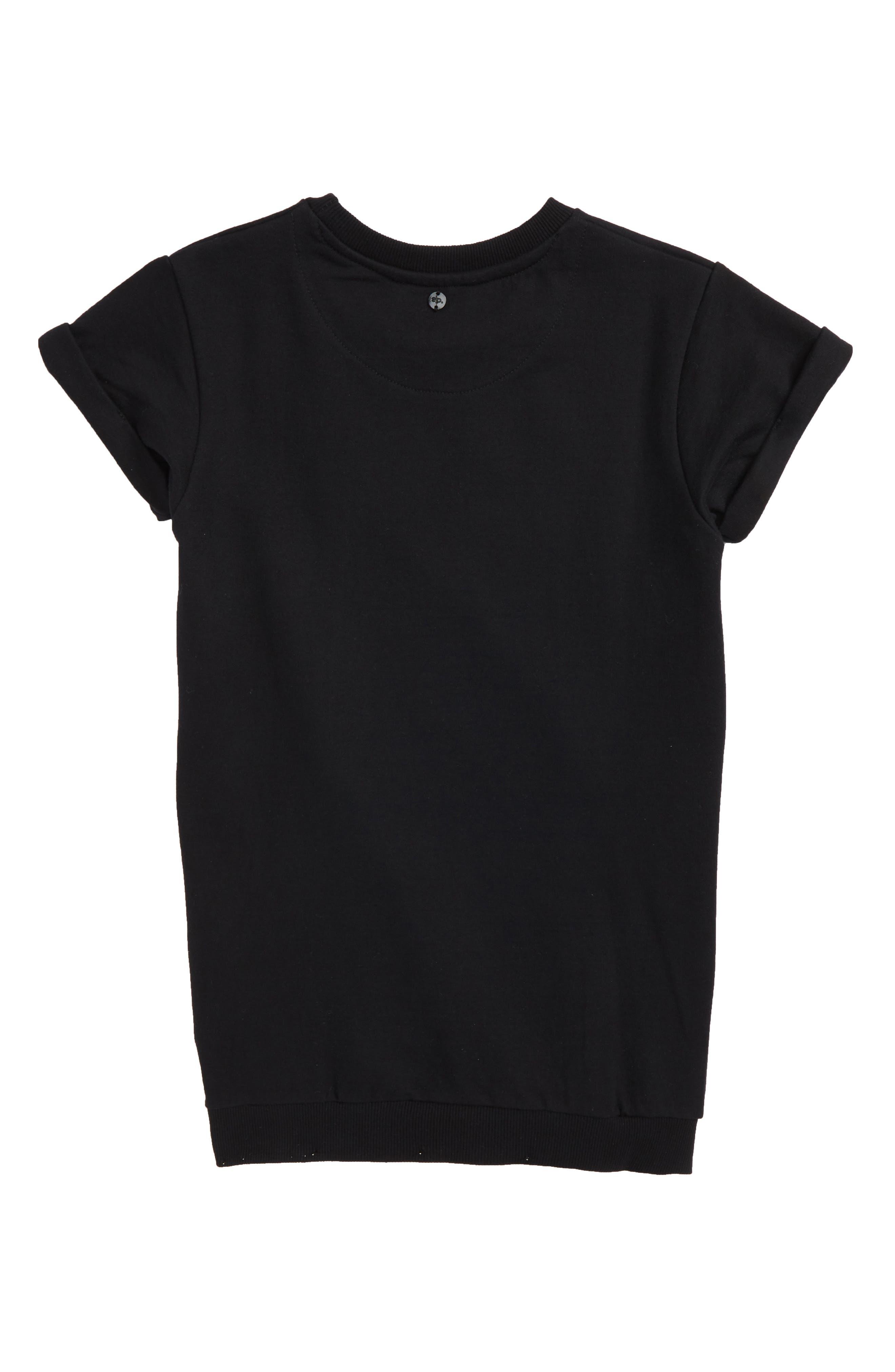 Adorn Sweatshirt Dress,                             Alternate thumbnail 2, color,                             Black