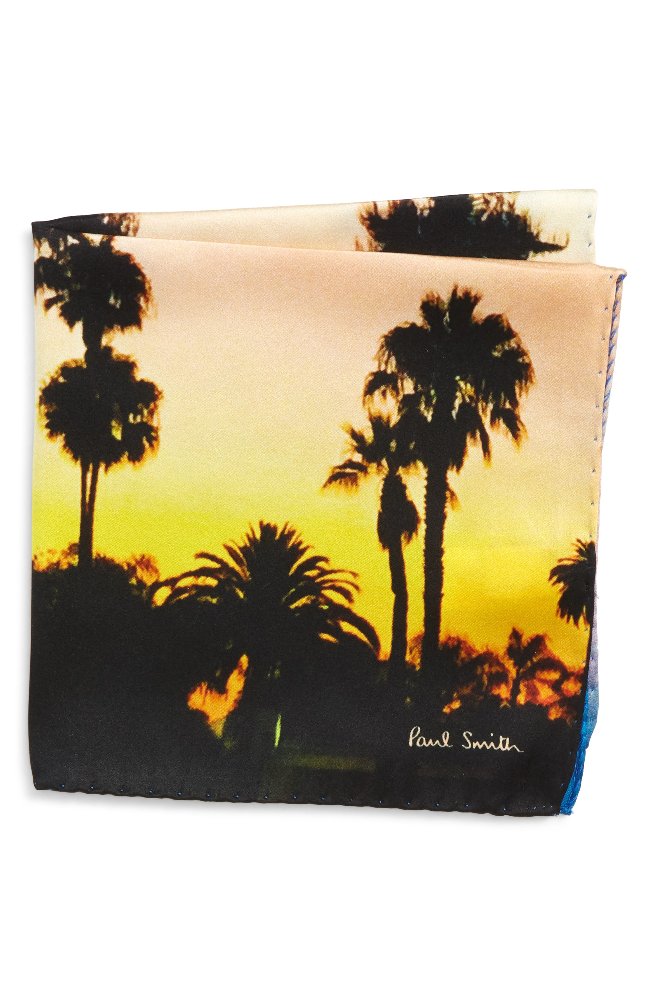 Paul Smith Photographic Print Silk Pocket Square