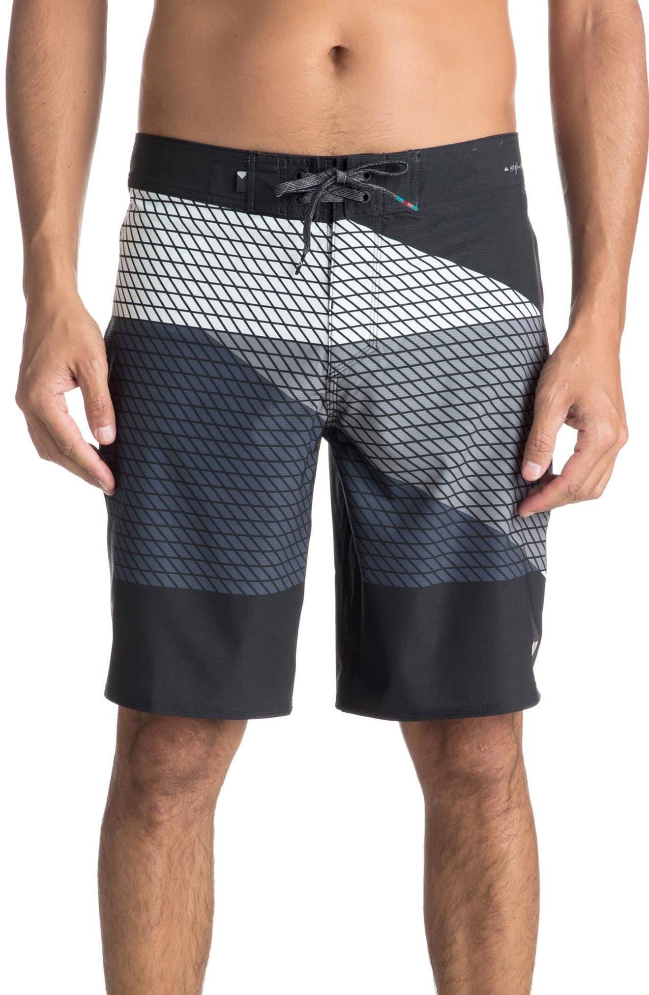Highline Slash Board Shorts,                             Main thumbnail 1, color,                             Black
