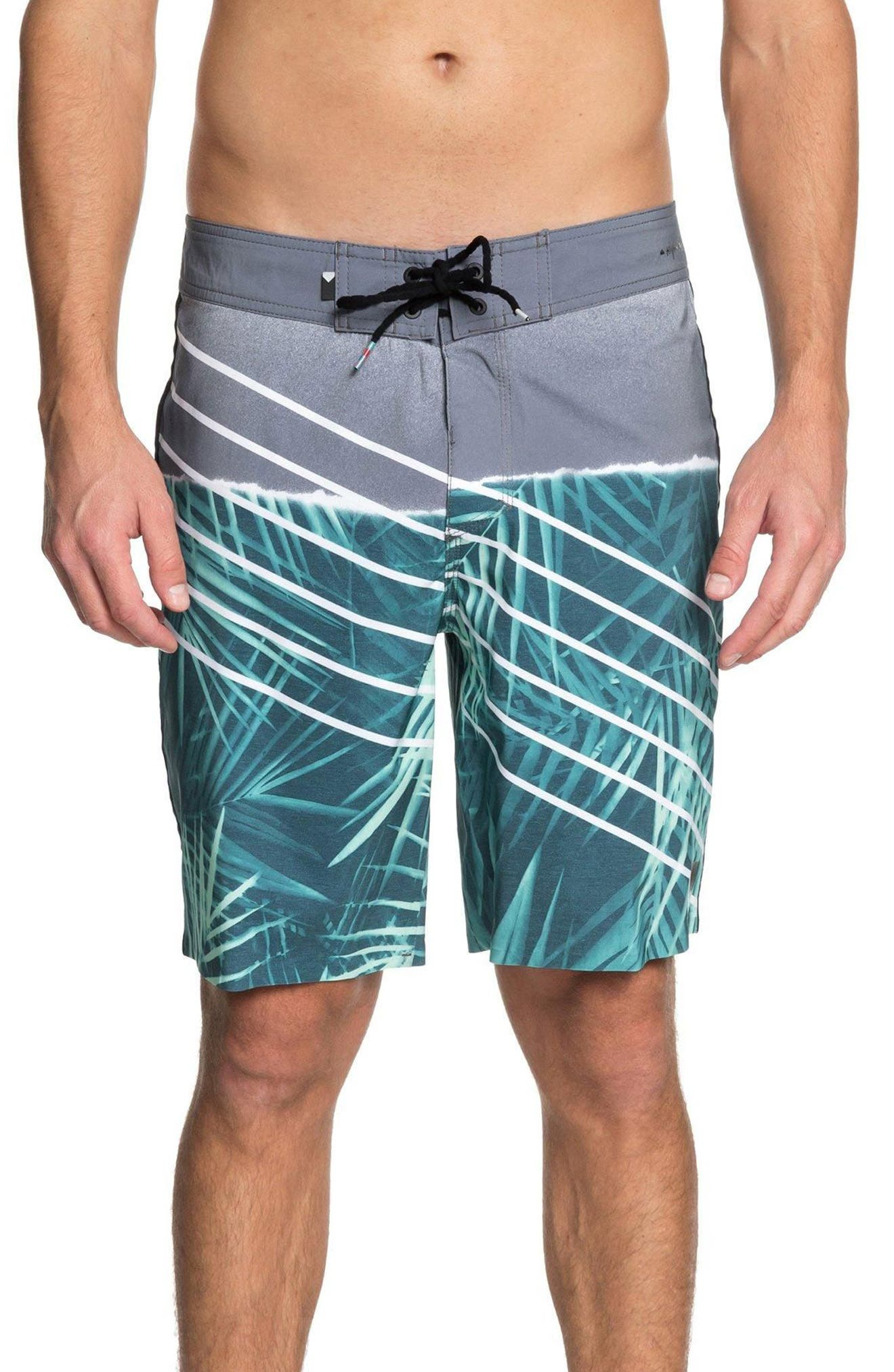 Highline Palm Board Shorts,                         Main,                         color, Tropic Green