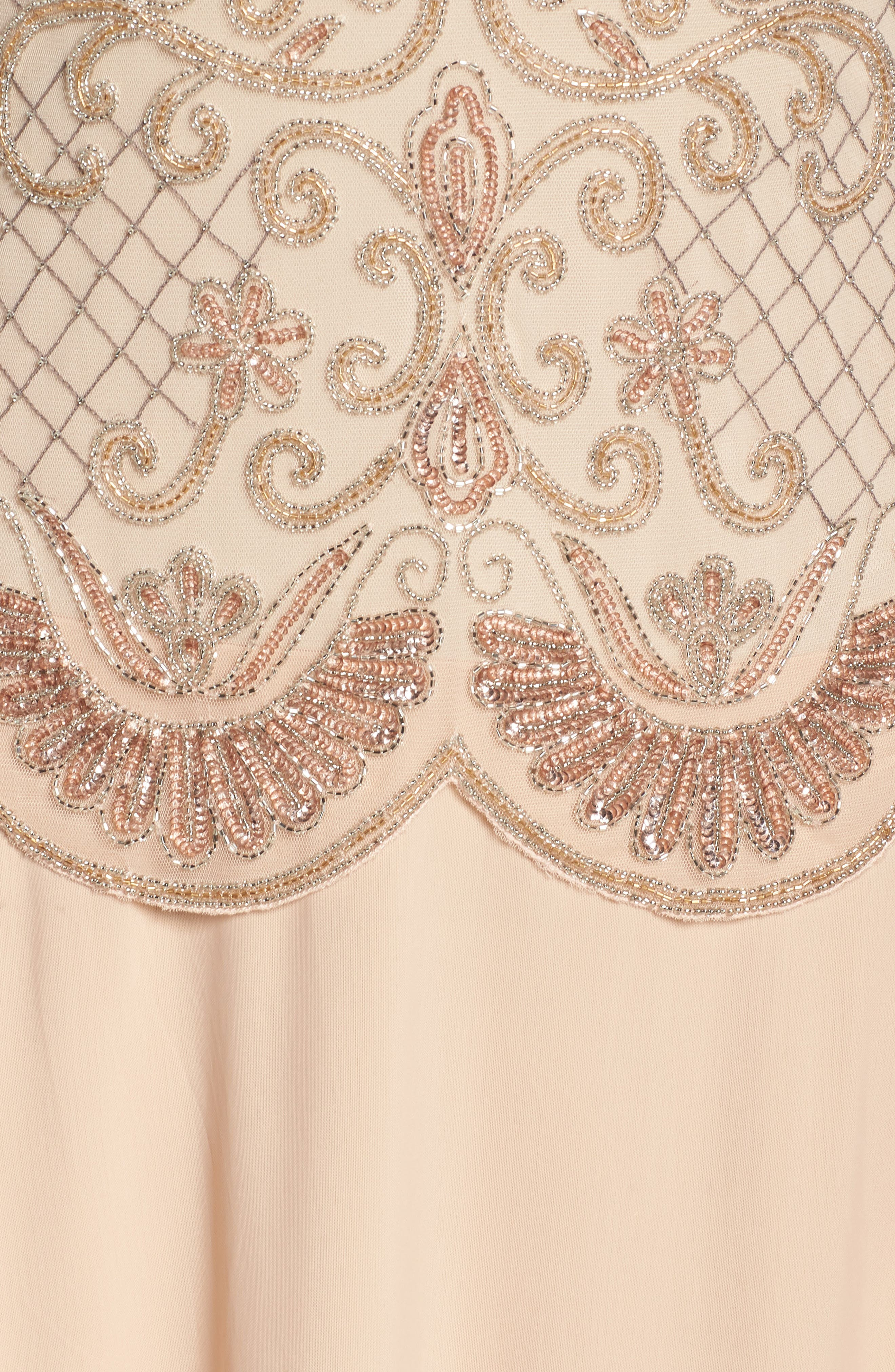 Embellished Mock Two-Piece Gown,                             Alternate thumbnail 5, color,                             Blush