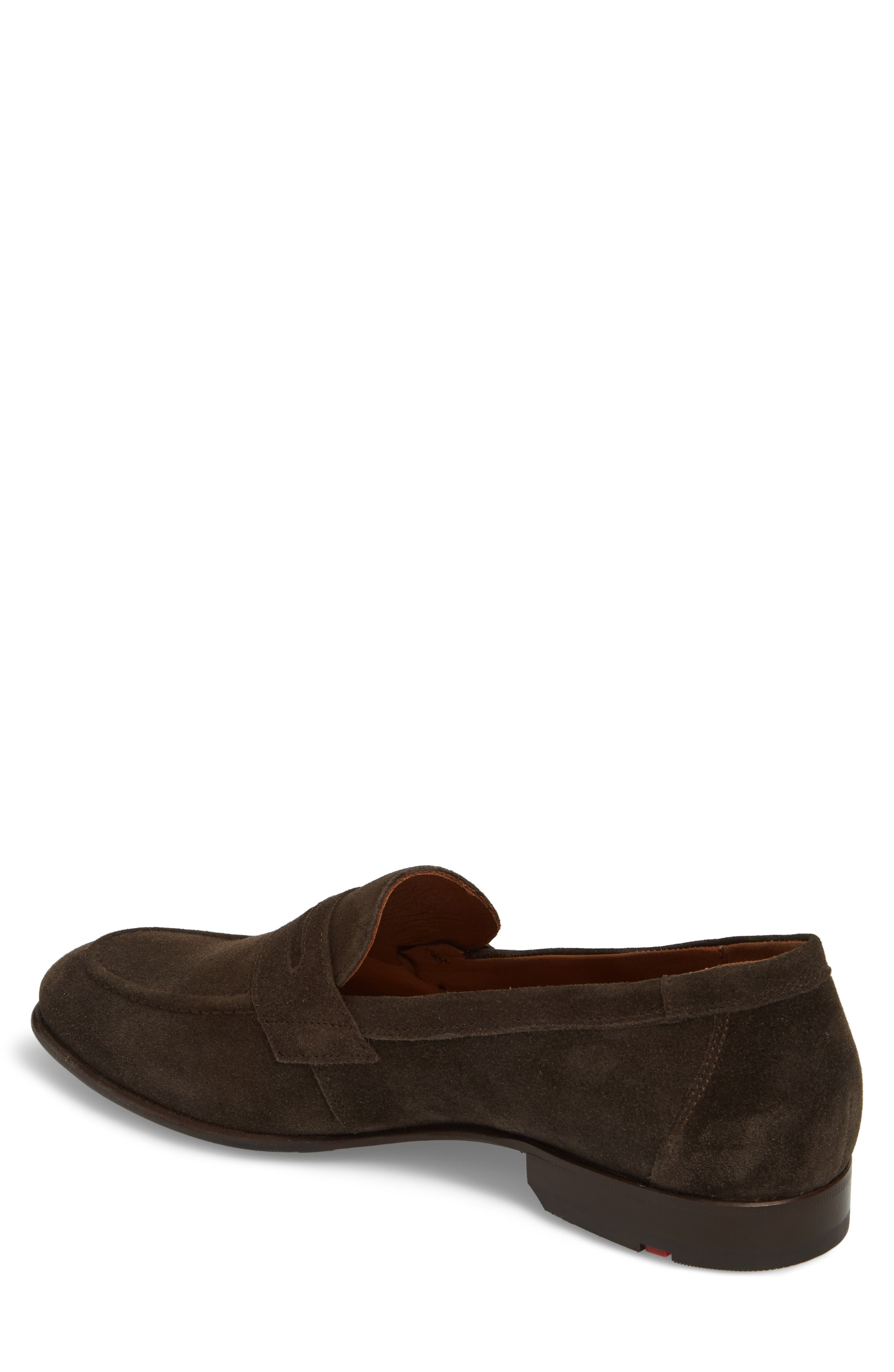 Paxton Penny Loafer,                             Alternate thumbnail 2, color,                             Brown Suede