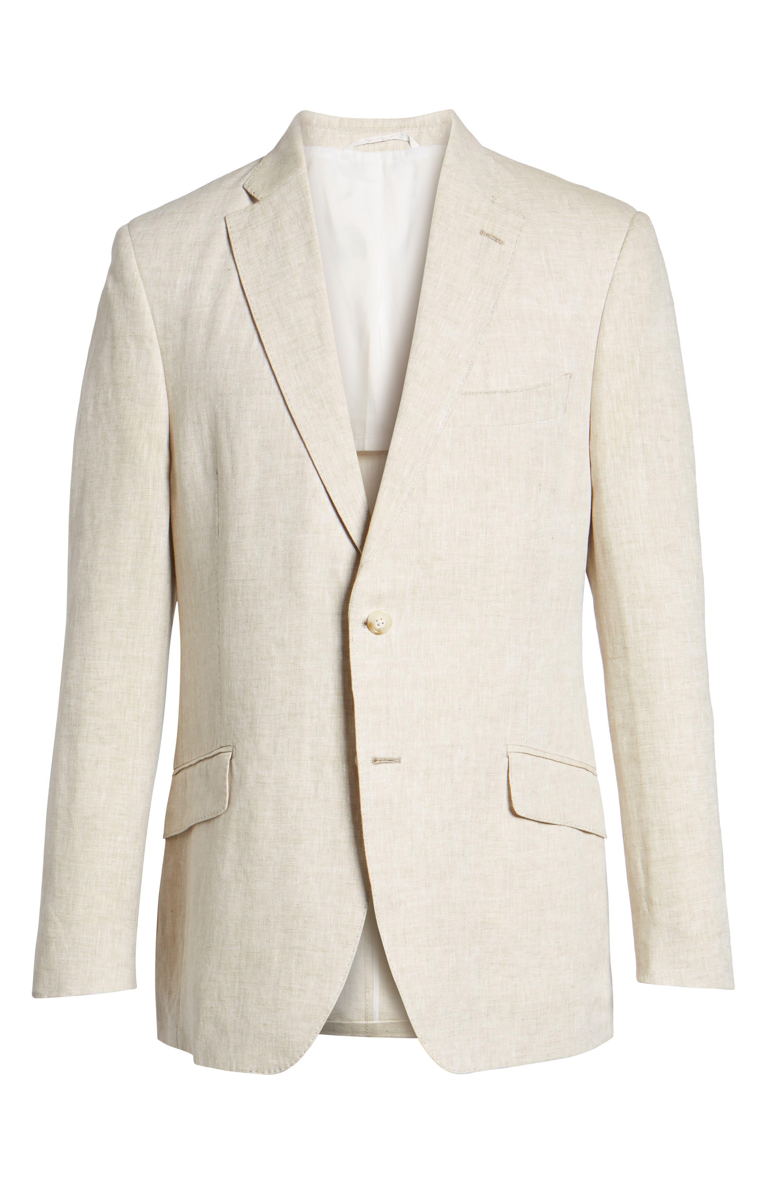 Jack AIM Classic Fit Linen Blazer,                             Alternate thumbnail 6, color,                             Natural