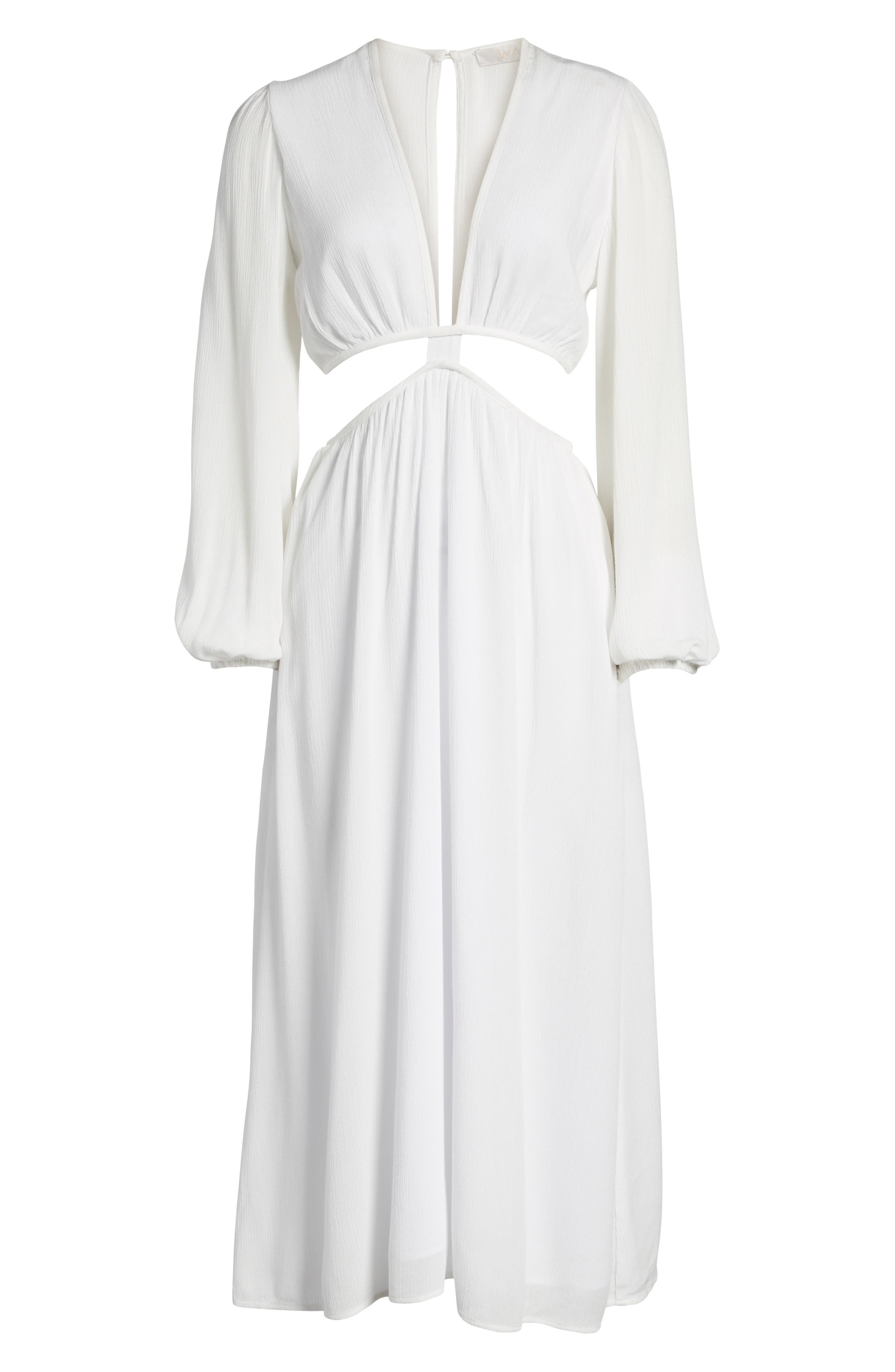 Babylon Cutout Dress,                             Alternate thumbnail 7, color,                             Ivory