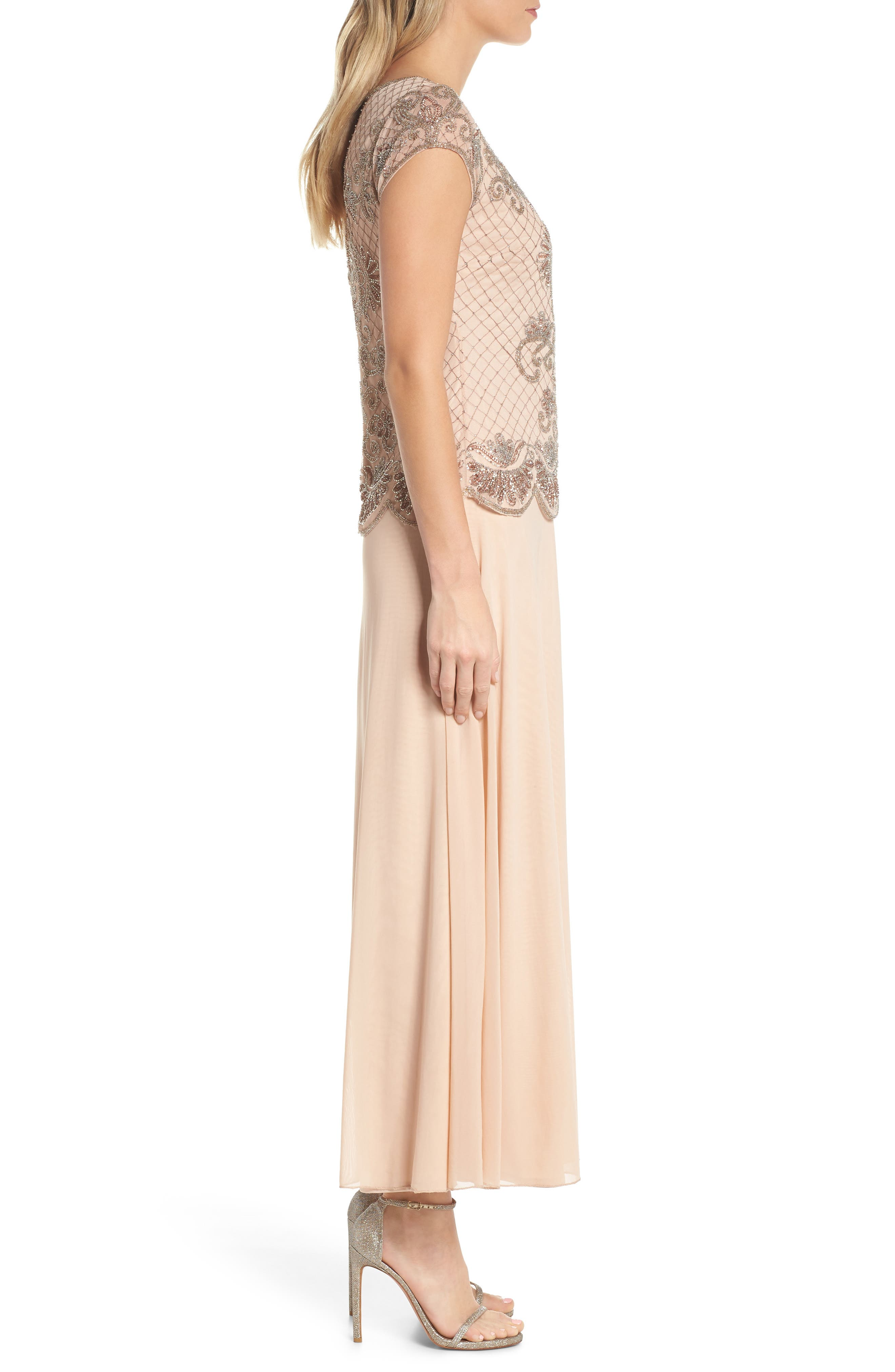 Alternate Image 3  - Pisarro Nights Embellished Mock Two-Piece Gown