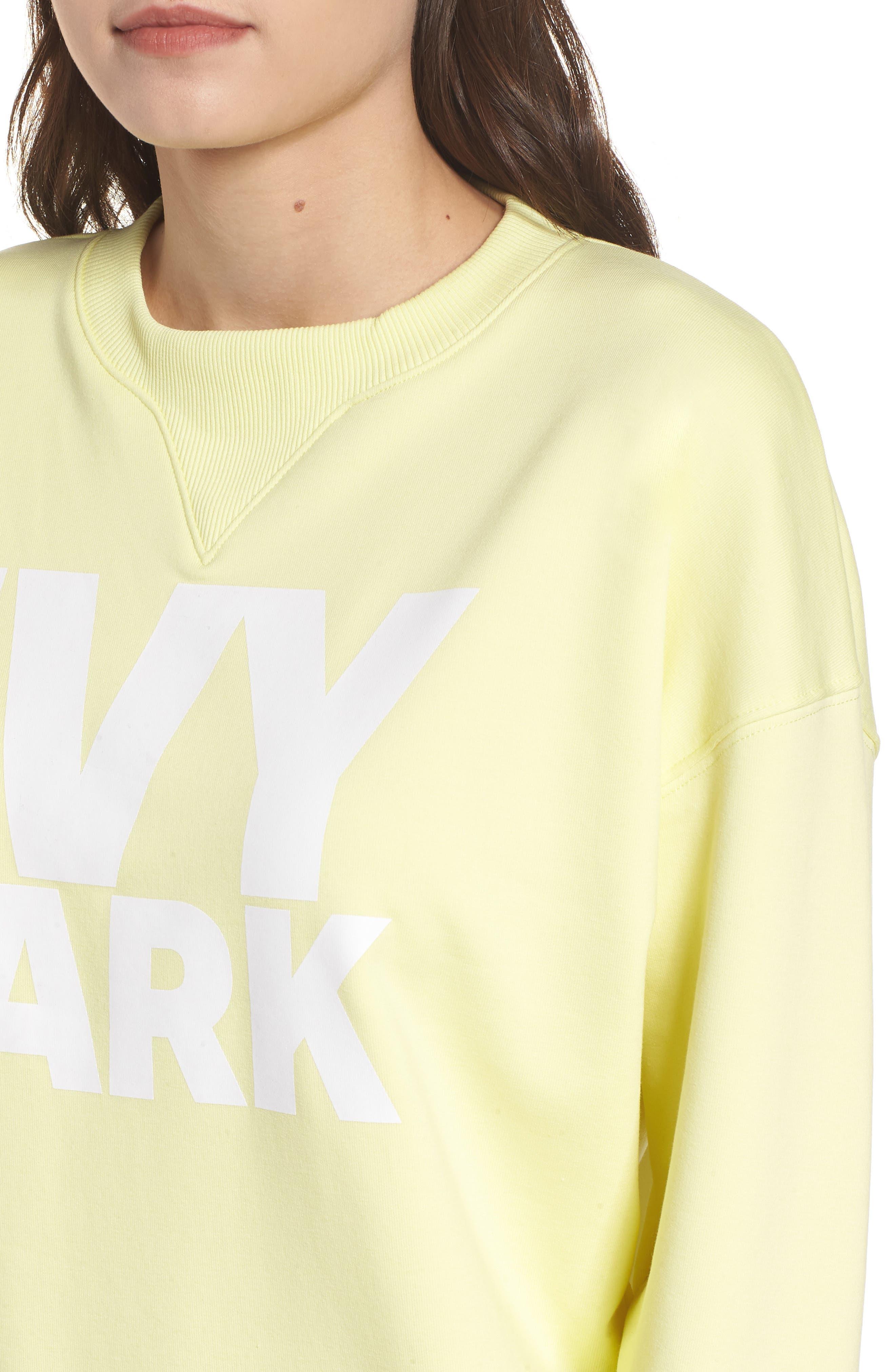 Logo Sweatshirt,                             Alternate thumbnail 4, color,                             Yellow Pear