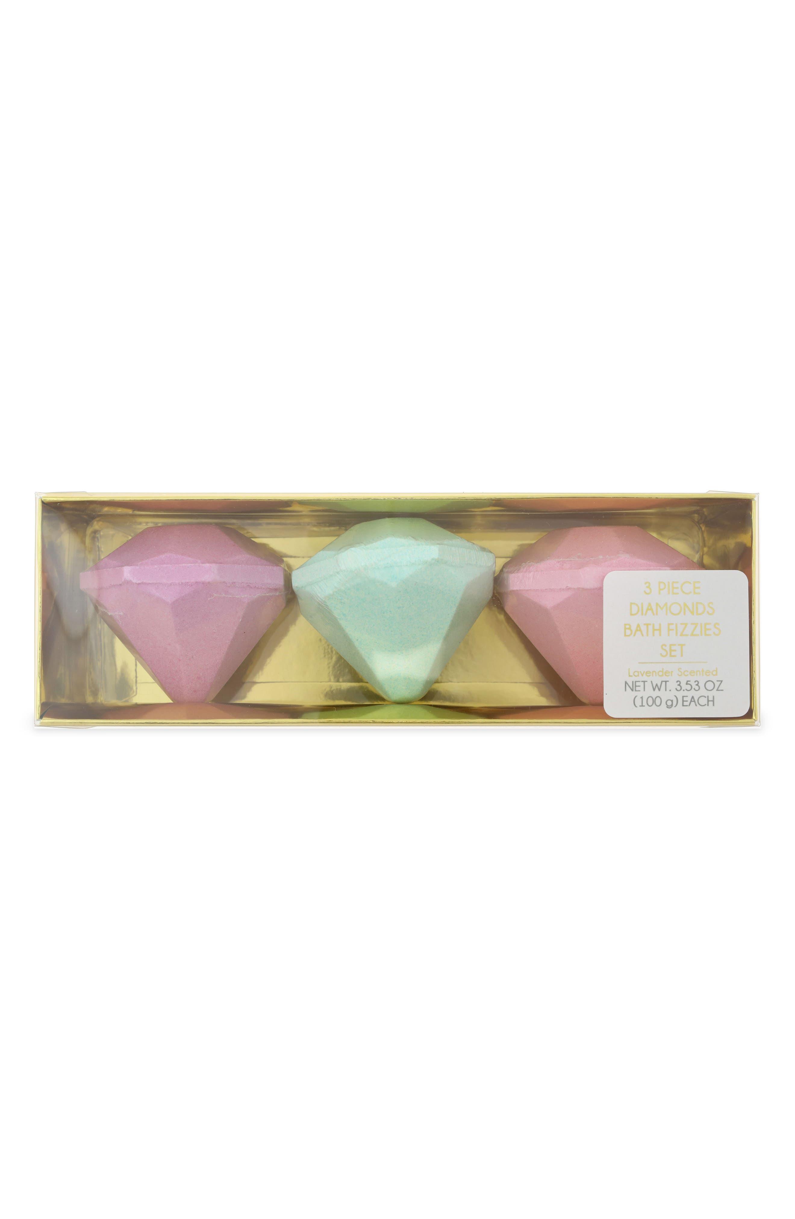 3-Pack Diamond Bath Fizzies Set,                             Main thumbnail 1, color,                             Multi Combo