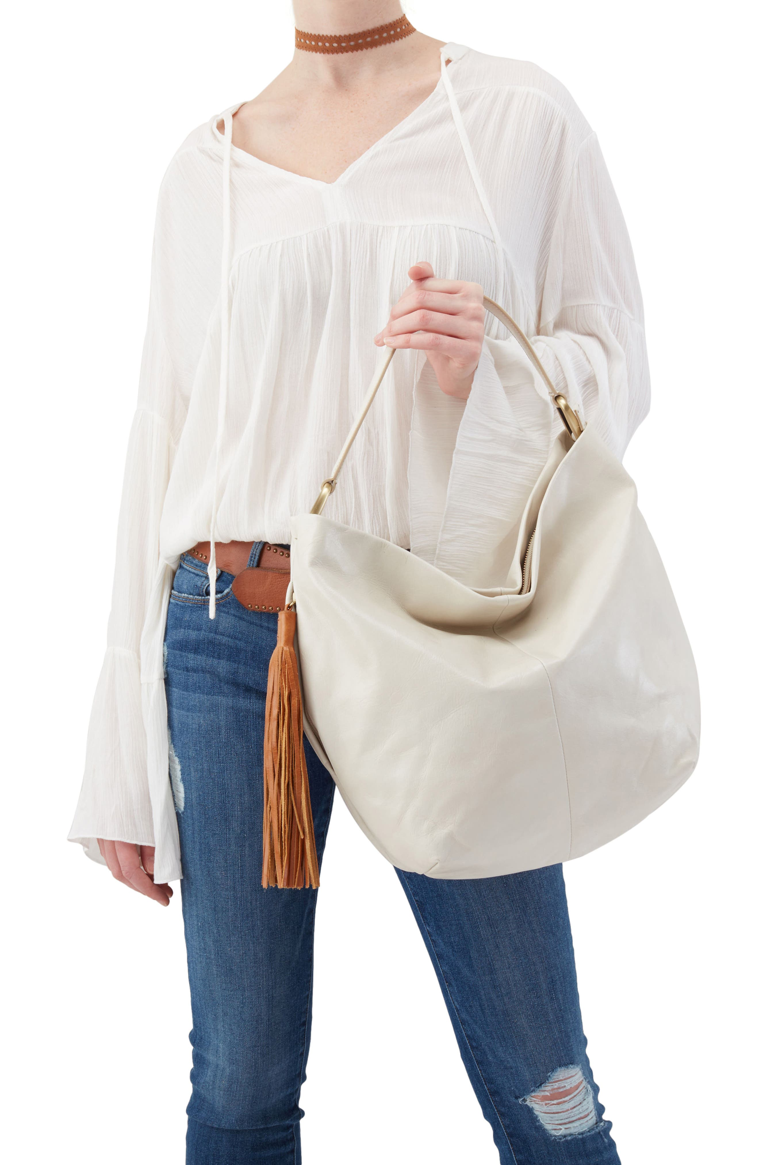 Meridian Leather Hobo,                             Alternate thumbnail 2, color,                             Magnolia