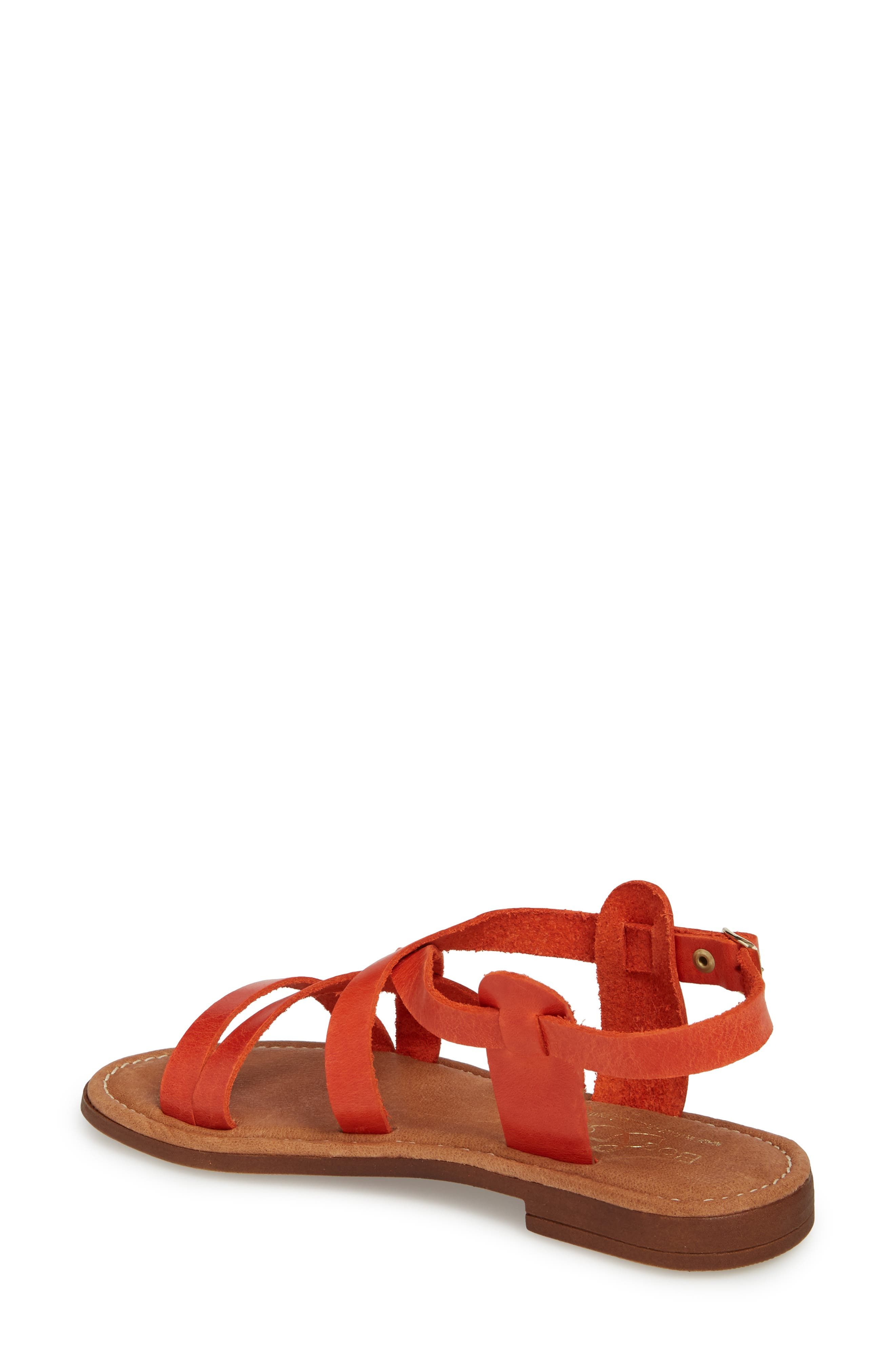 Ionna Sandal,                             Alternate thumbnail 2, color,                             Tangerine Leather