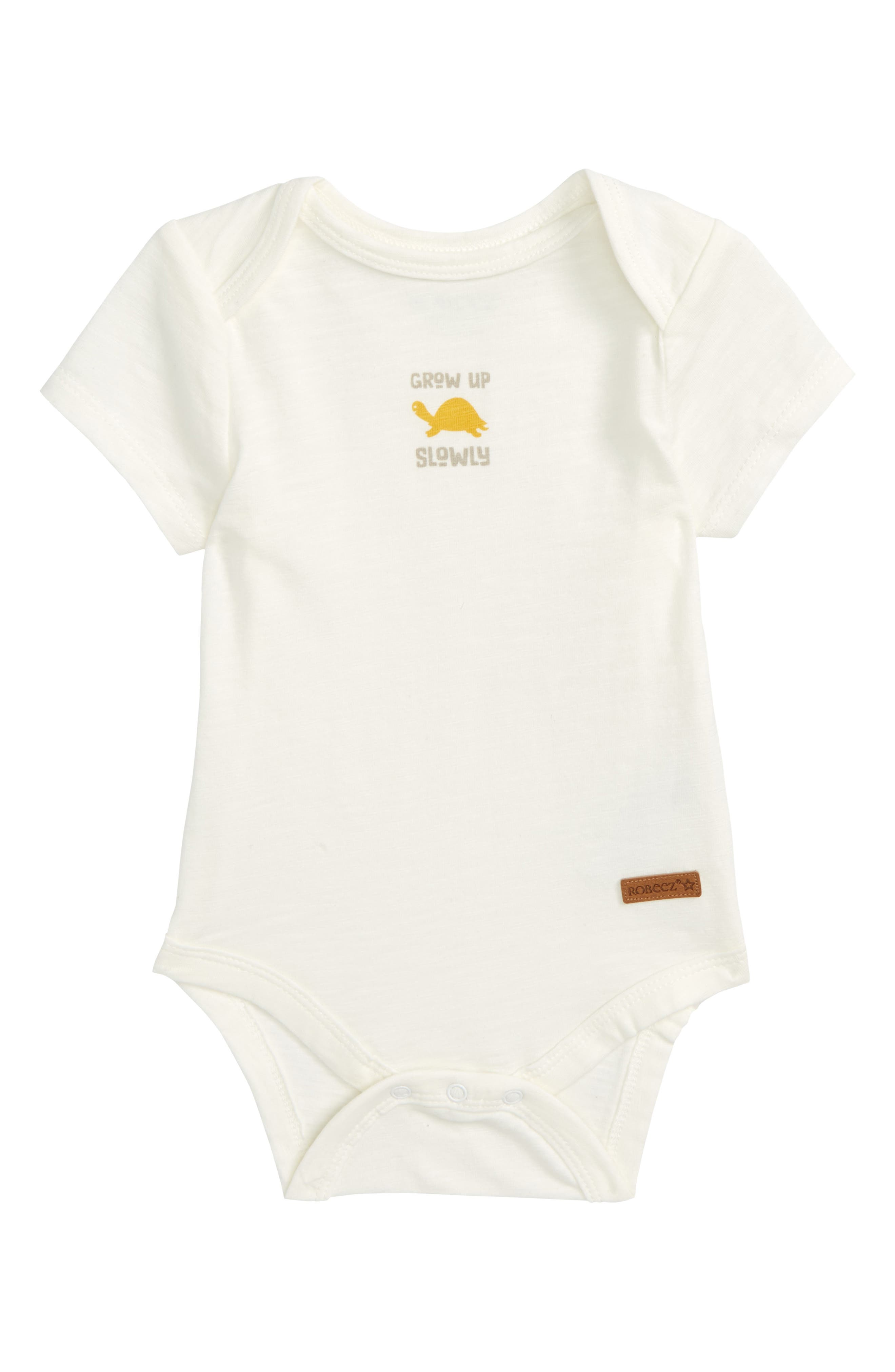 Grow Up Slowly Bodysuit,                         Main,                         color, White