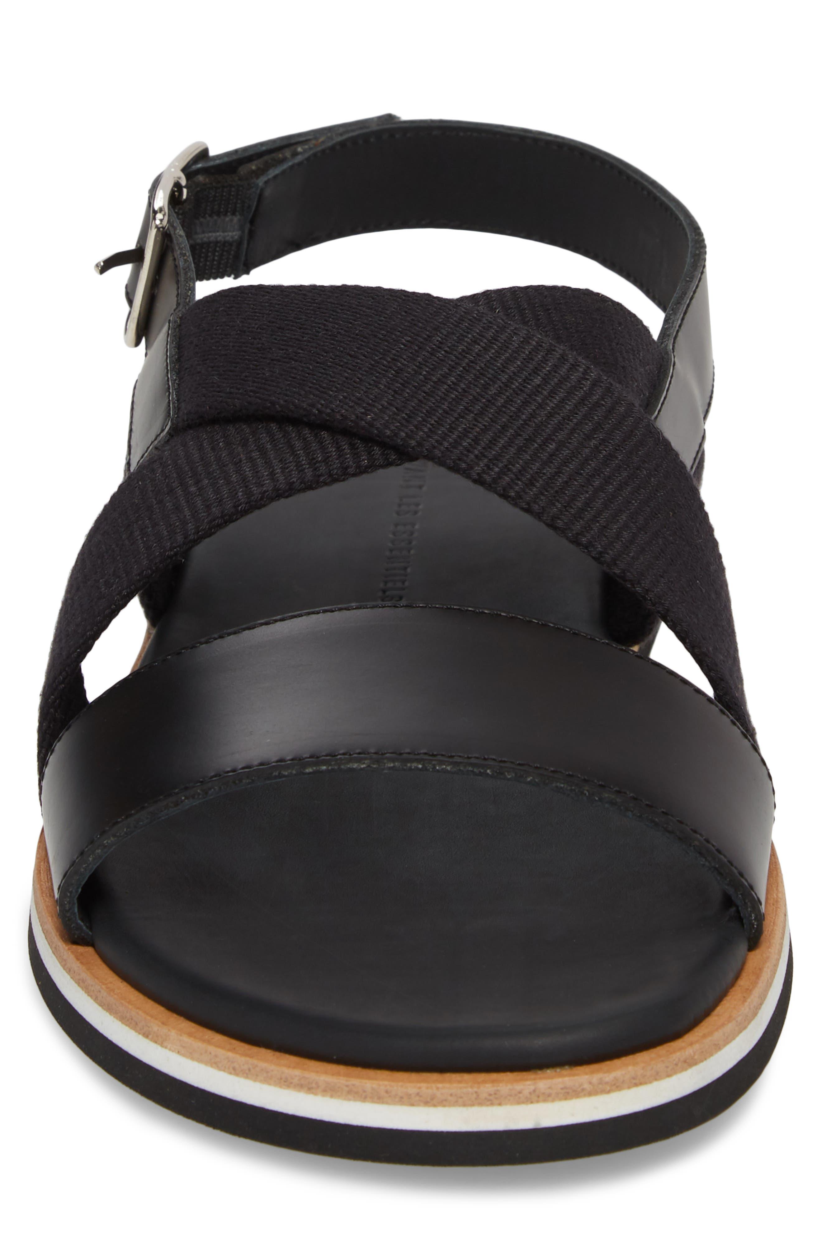 Jobim Sandal,                             Alternate thumbnail 4, color,                             Black Cord/ Black