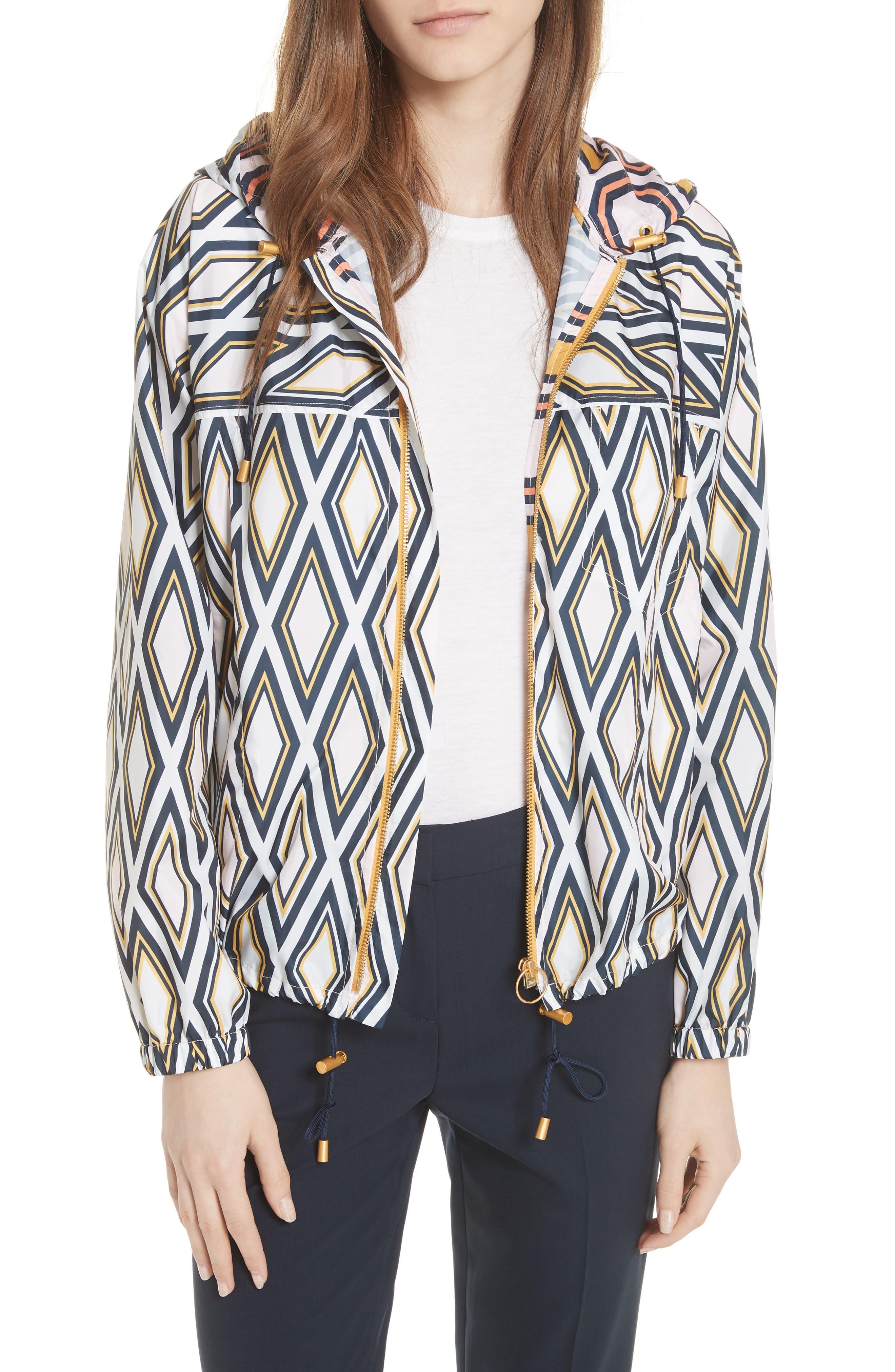 Devon Hooded Jacket,                         Main,                         color, Solitaire Diamond