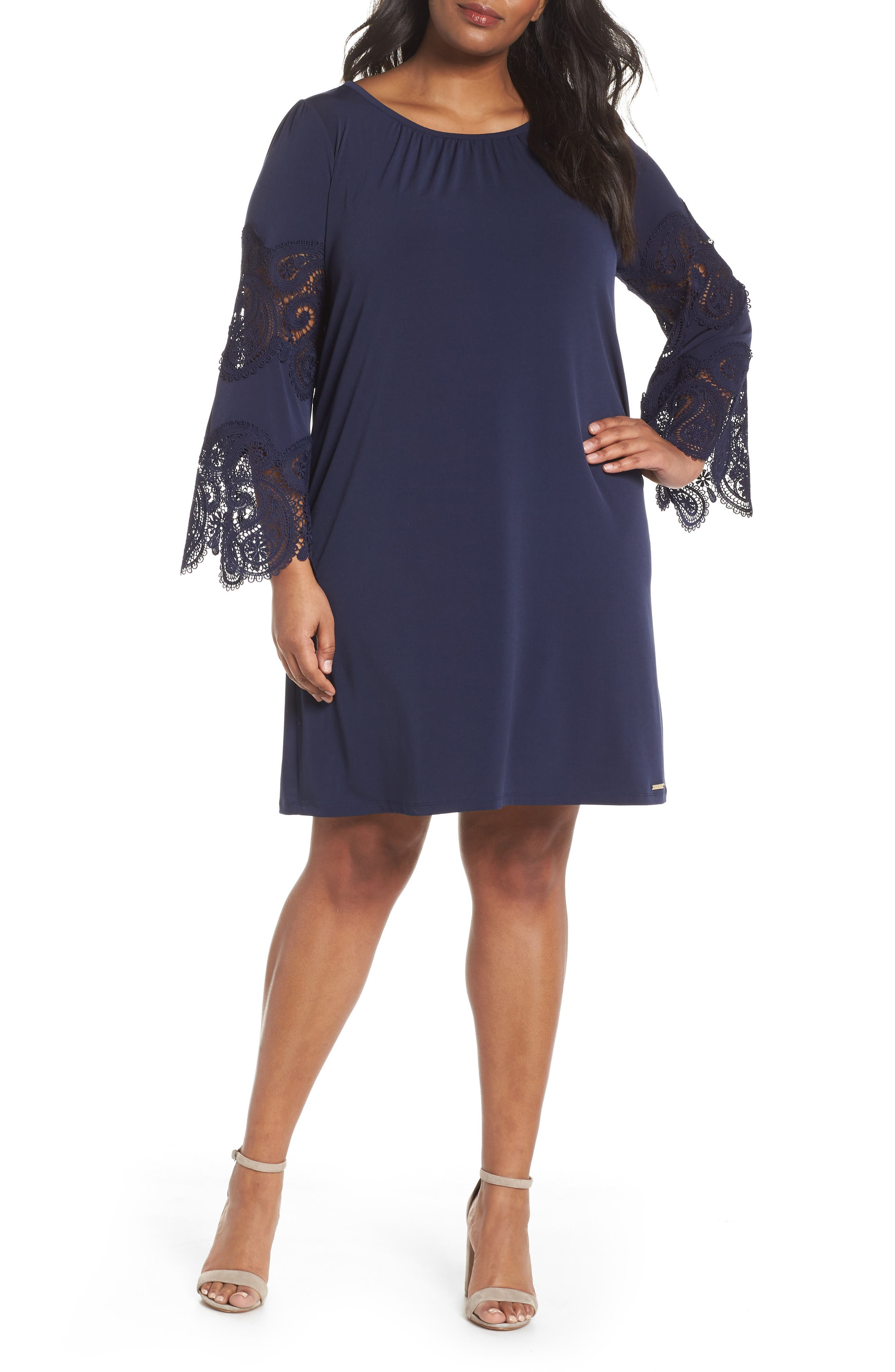 MICHAEL Michael Kors Lace Inset Dress (Plus Size)
