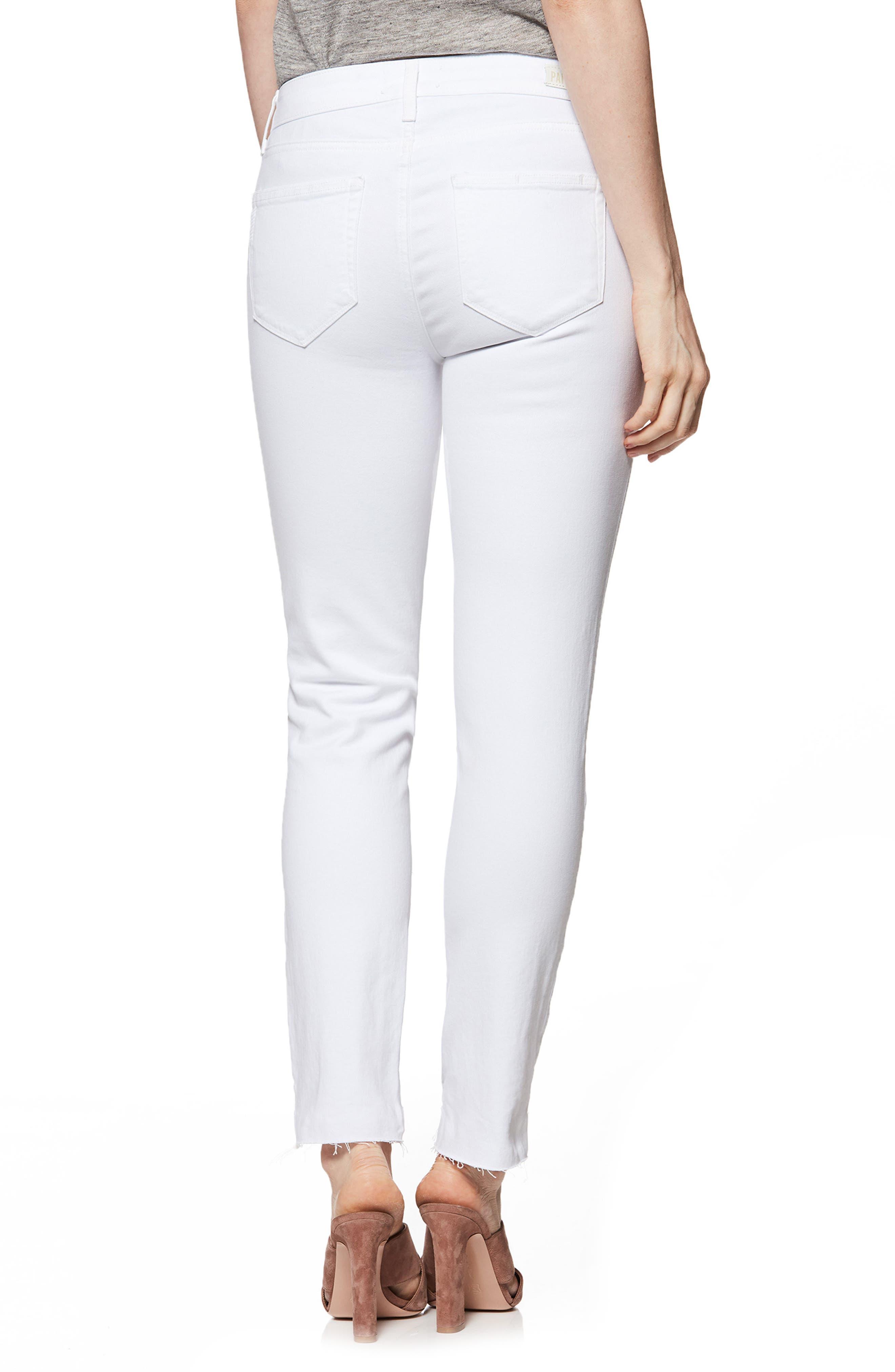 Skyline Ankle Skinny Jeans,                             Alternate thumbnail 2, color,                             Crisp White