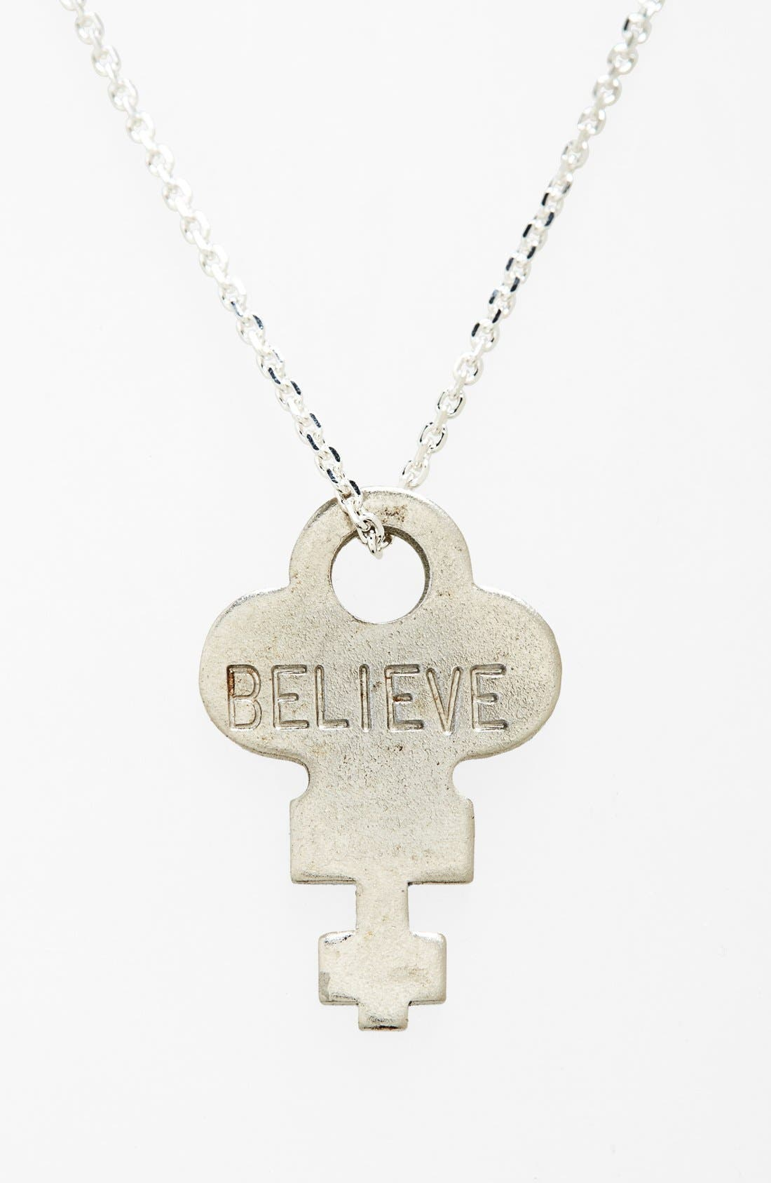 Dainty Classic Hope 18-Inch Gold Key Pendant Necklace,                         Main,                         color, Silver