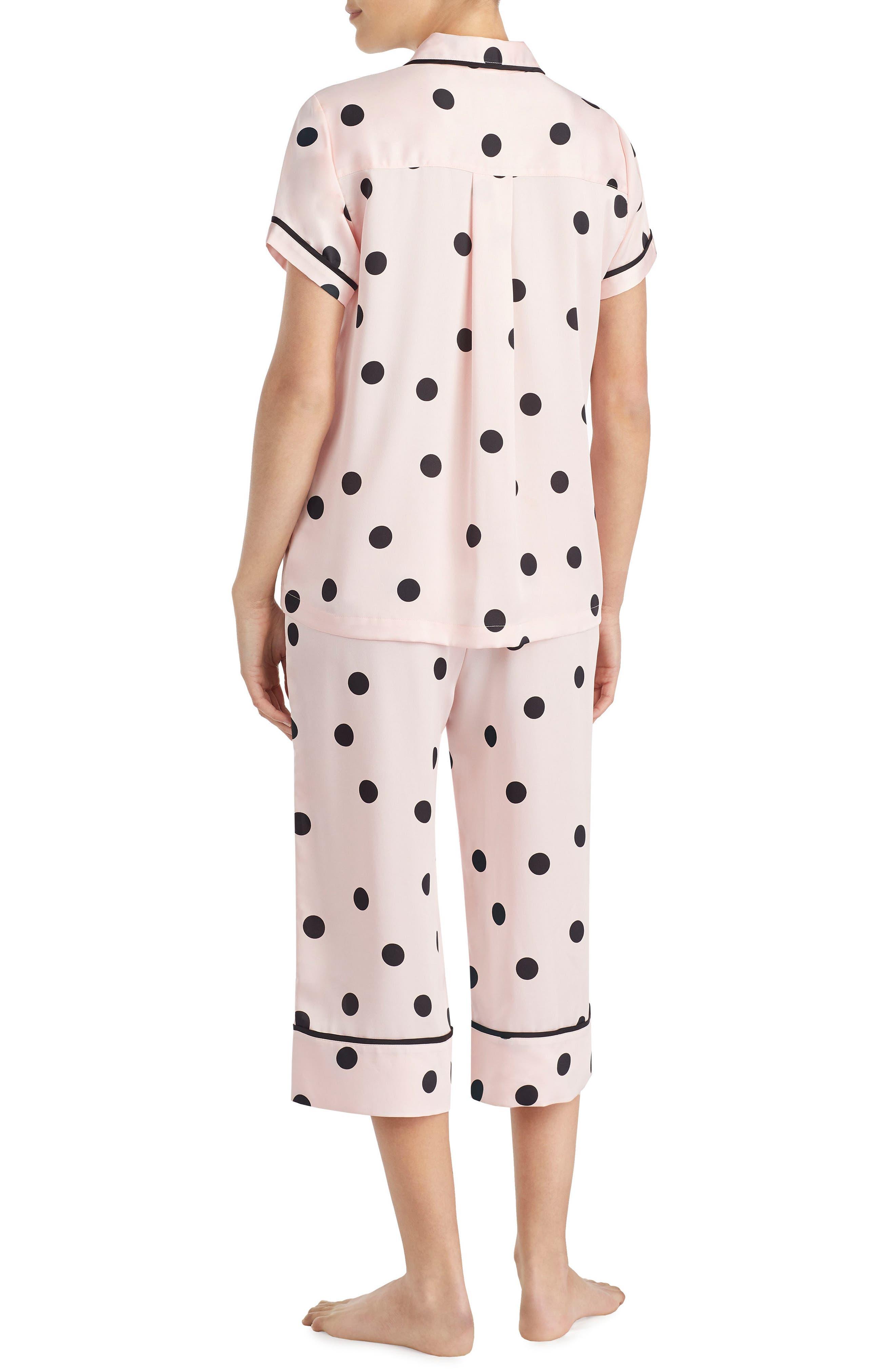 capri pajamas,                             Alternate thumbnail 2, color,                             Reina Dot