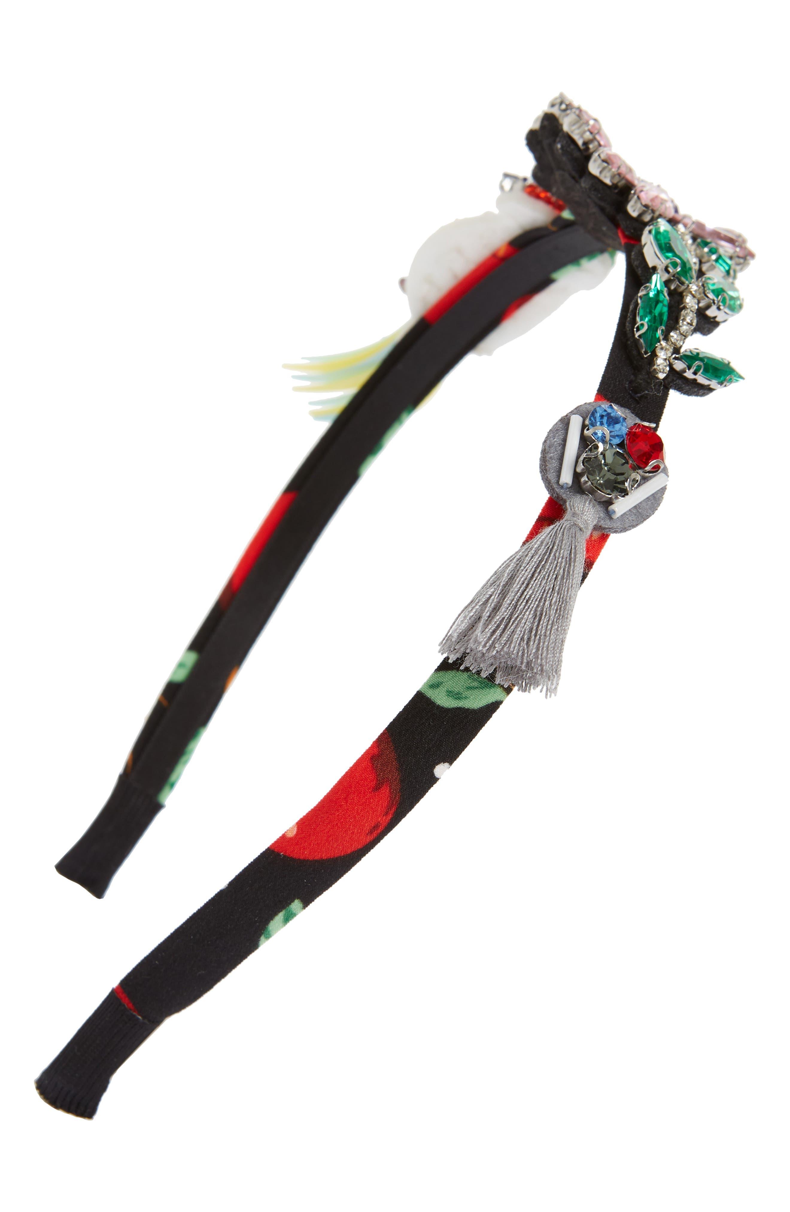 Alternate Image 1 Selected - Cara Parrots Embellished Headband (Girls)