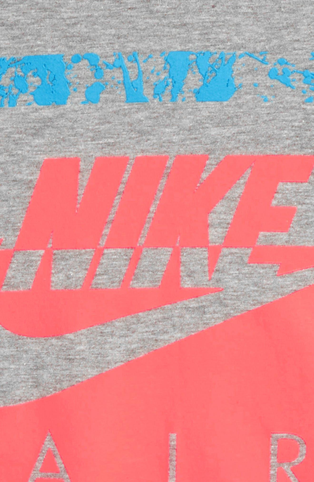 Air 180 Graphic T-Shirt,                             Alternate thumbnail 3, color,                             Dark Grey Heather