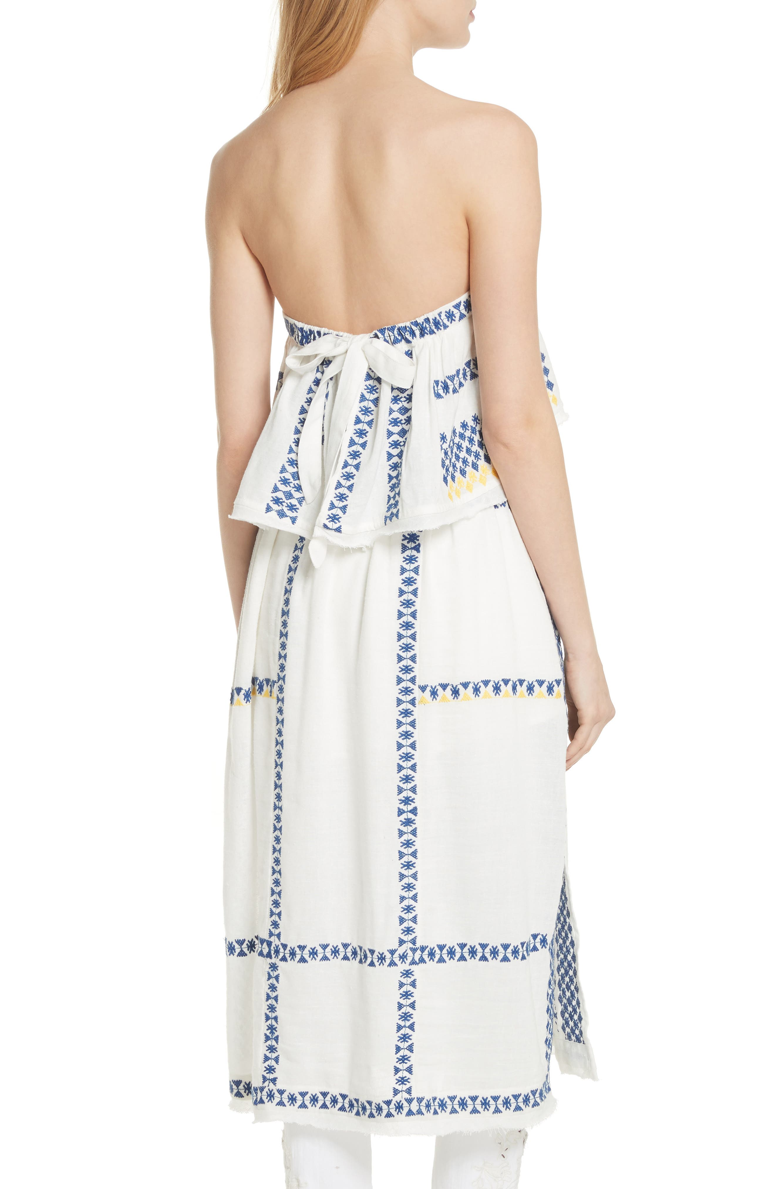 Wild Romance Embroidered Dress,                             Alternate thumbnail 2, color,                             Ivory