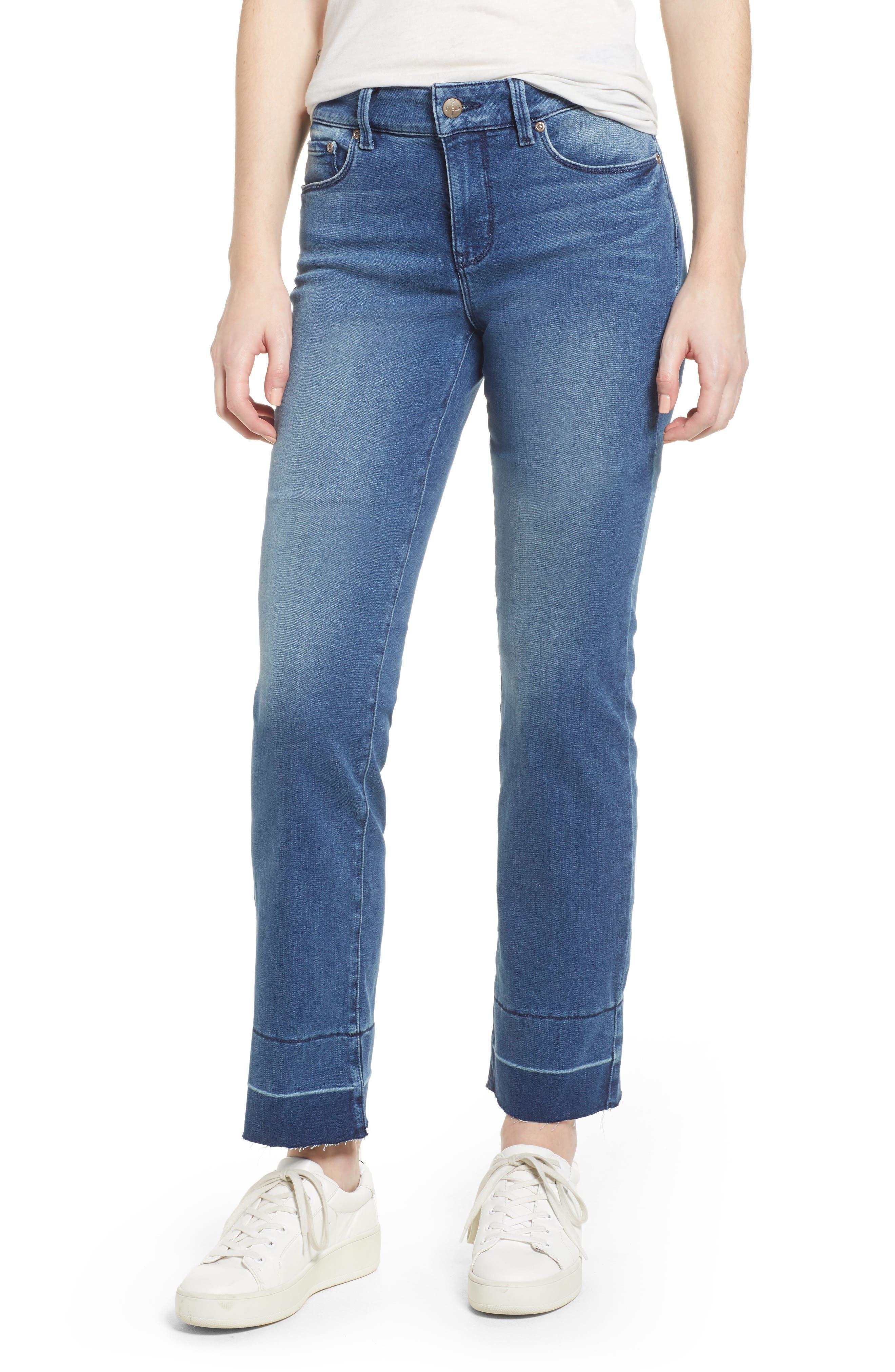 Marilyn Release Hem Stretch Straight Leg Jeans,                         Main,                         color, Wishful