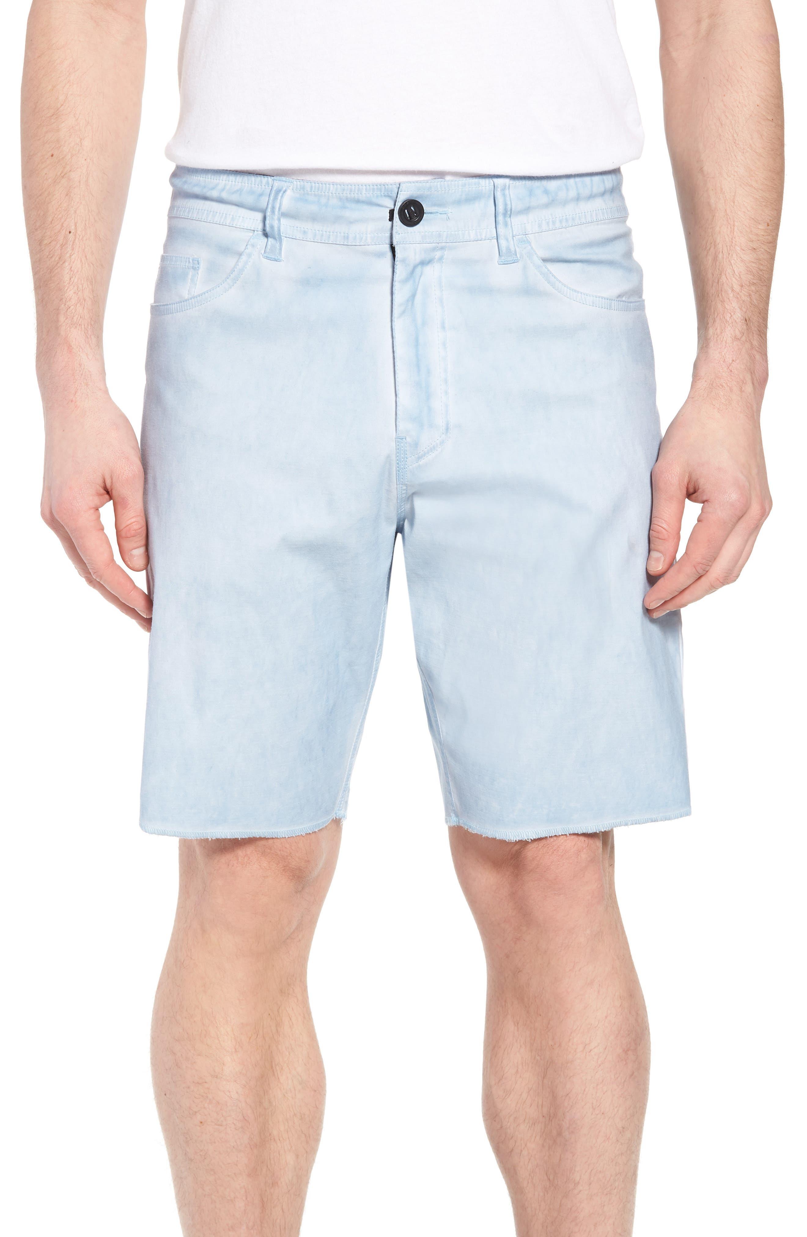 Kick Back Hybrid Shorts,                             Main thumbnail 1, color,                             Light Indigo