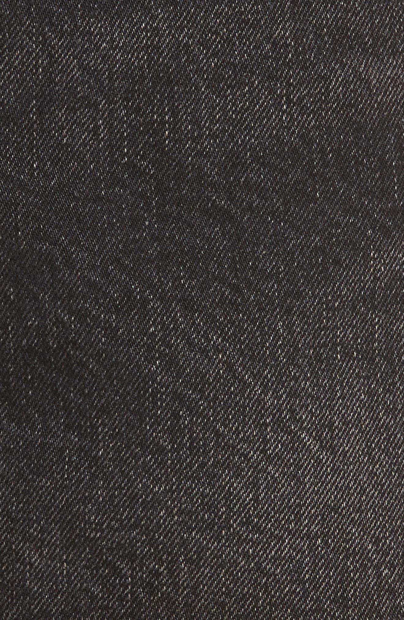 501<sup>®</sup> Cutoff Denim Shorts,                             Alternate thumbnail 5, color,                             Black Eye