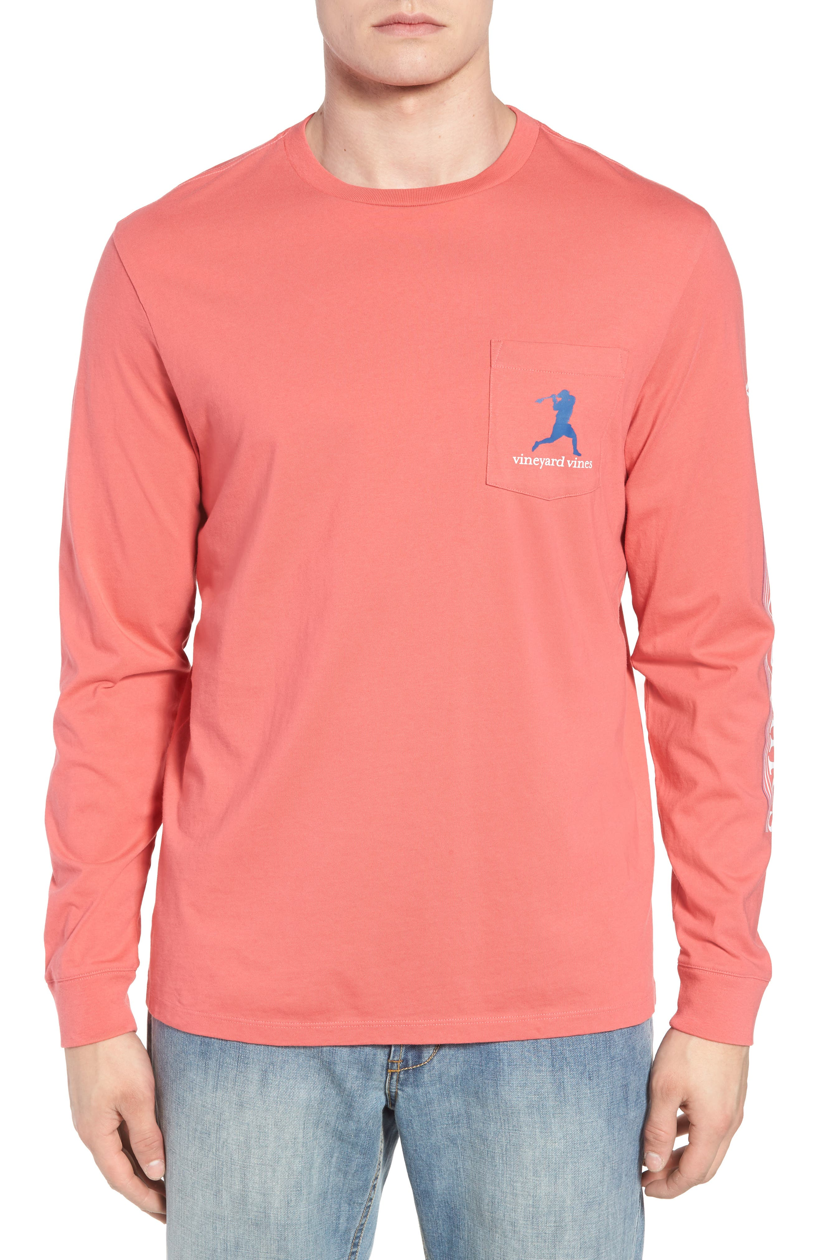 Wind Up Shot Pocket T-Shirt,                         Main,                         color, Jetty Red
